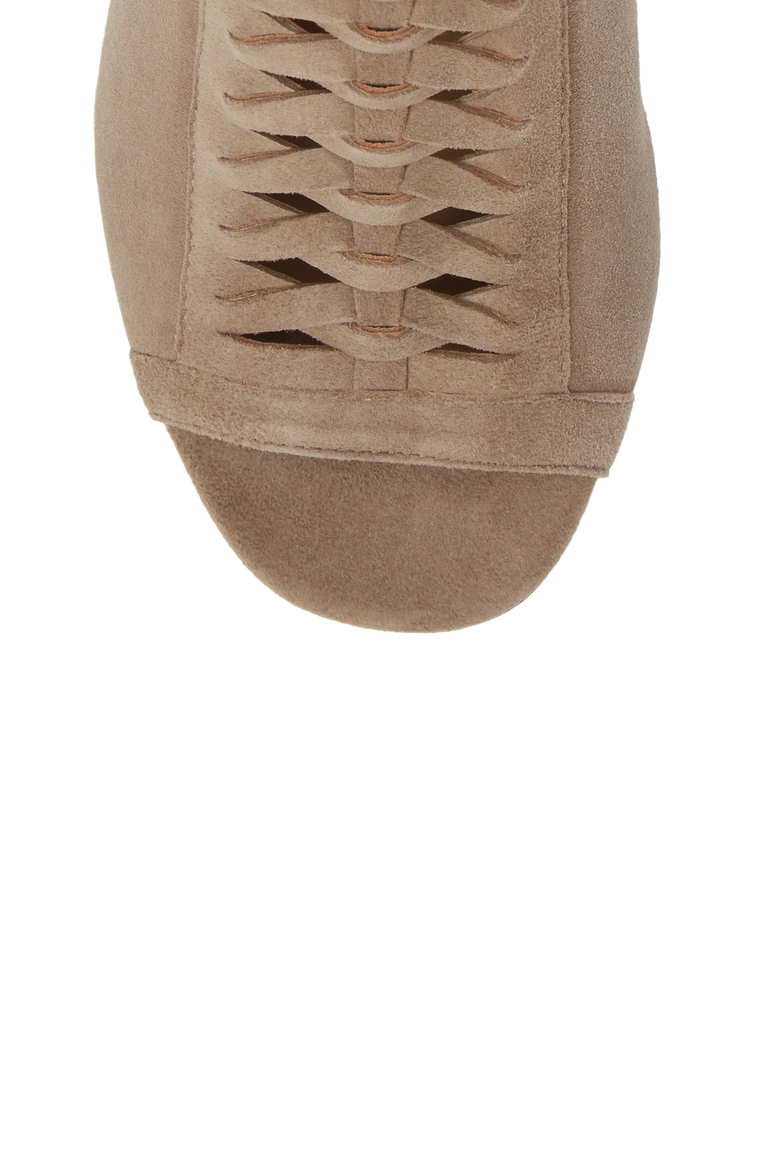 Dallas Woven Sandal,                             Alternate thumbnail 6, color,                             Taupe Suede