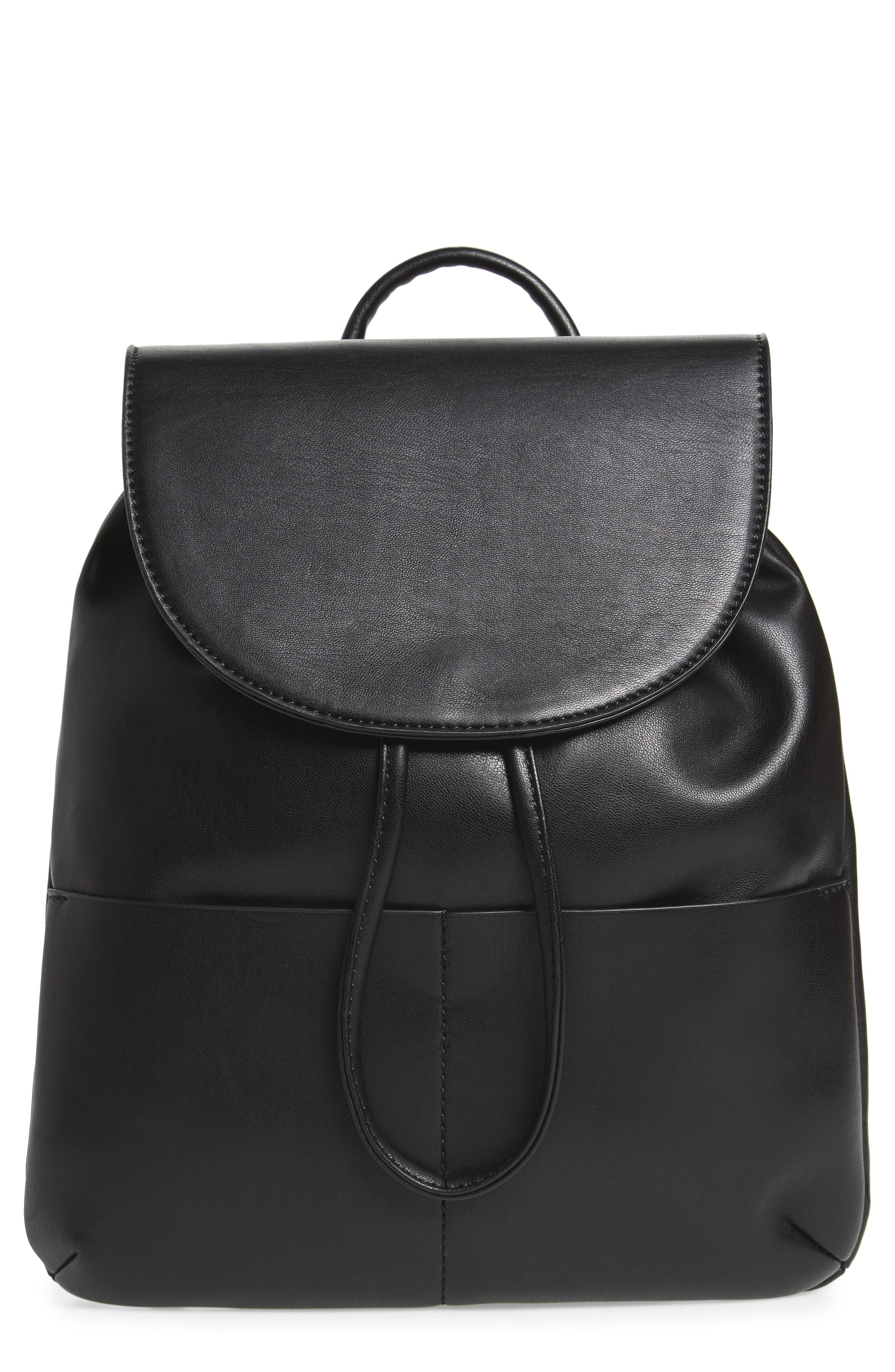 BP. Drawstring Faux Leather Backpack