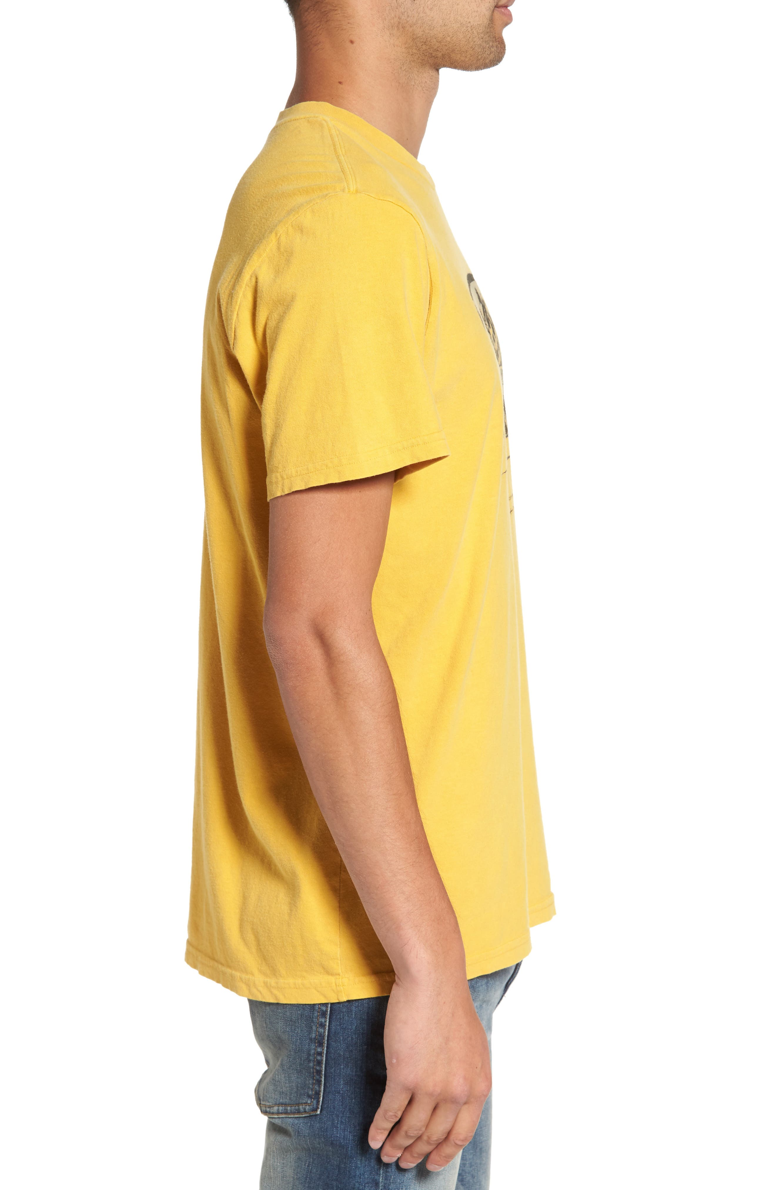 Motel Spring T-Shirt,                             Alternate thumbnail 3, color,                             Vintage Gold