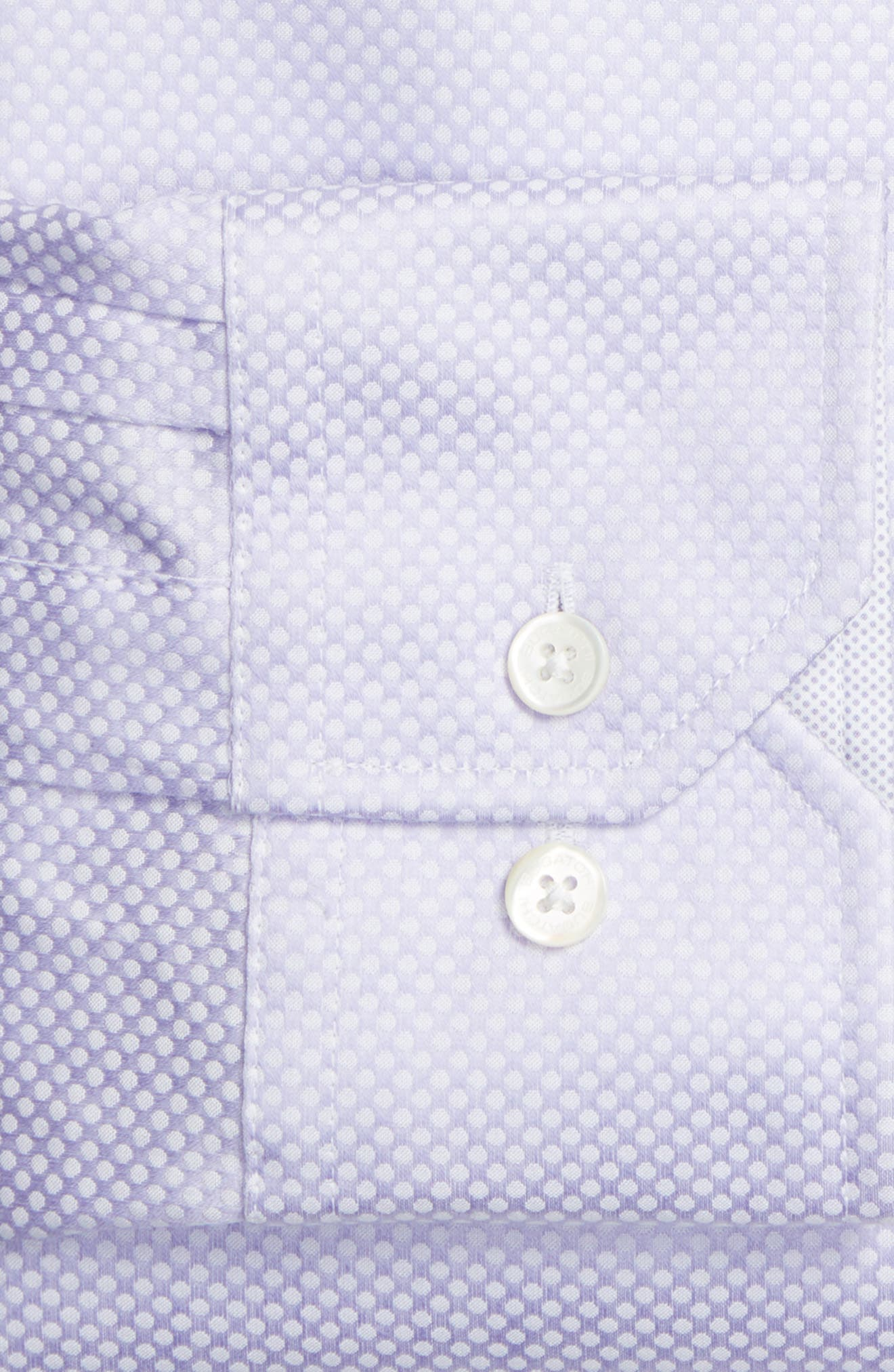 Alternate Image 2  - Bugatchi Trim Fit Dot Jacquard Dress Shirt