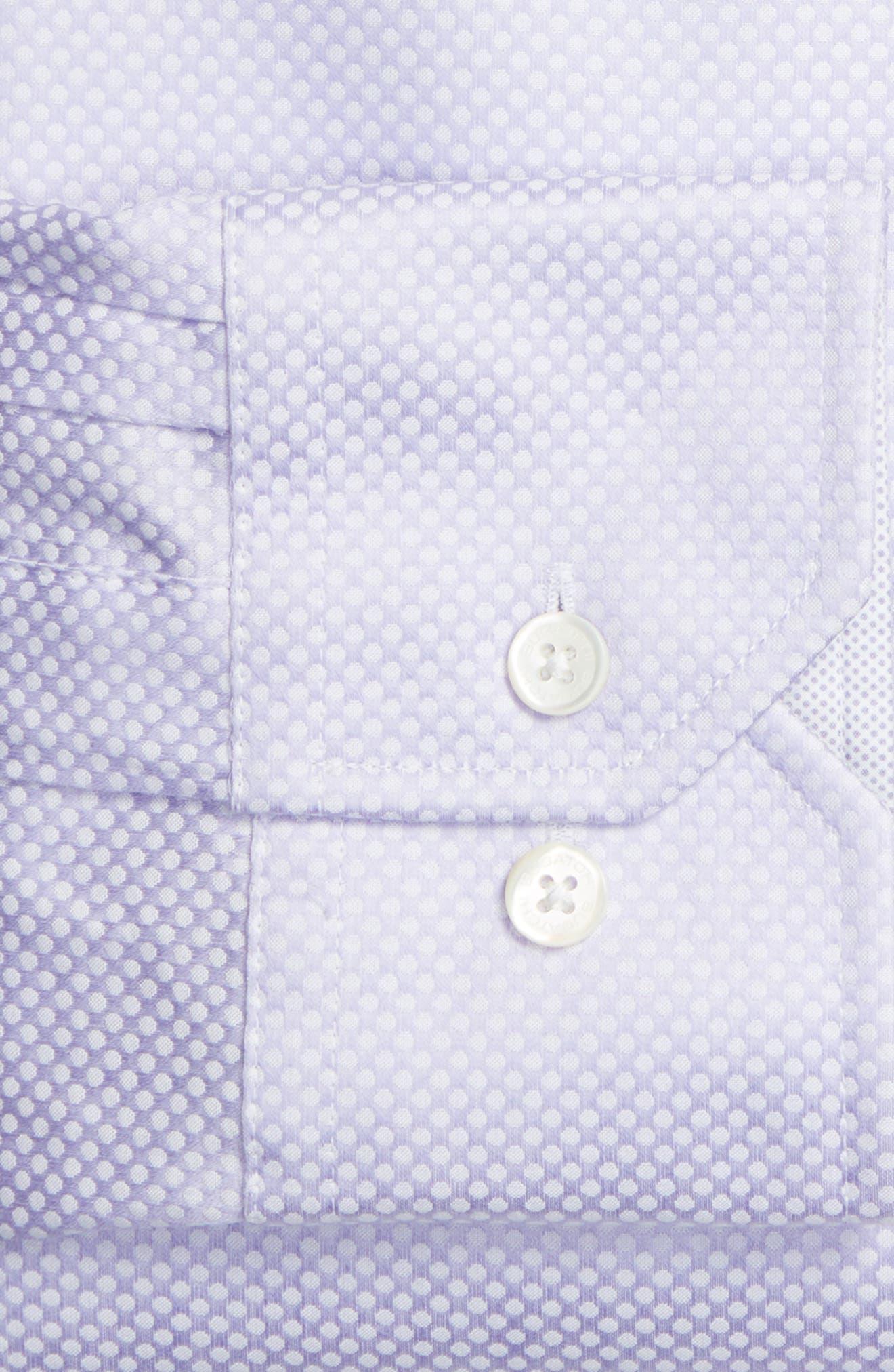 Trim Fit Dot Jacquard Dress Shirt,                             Alternate thumbnail 2, color,                             Lavender
