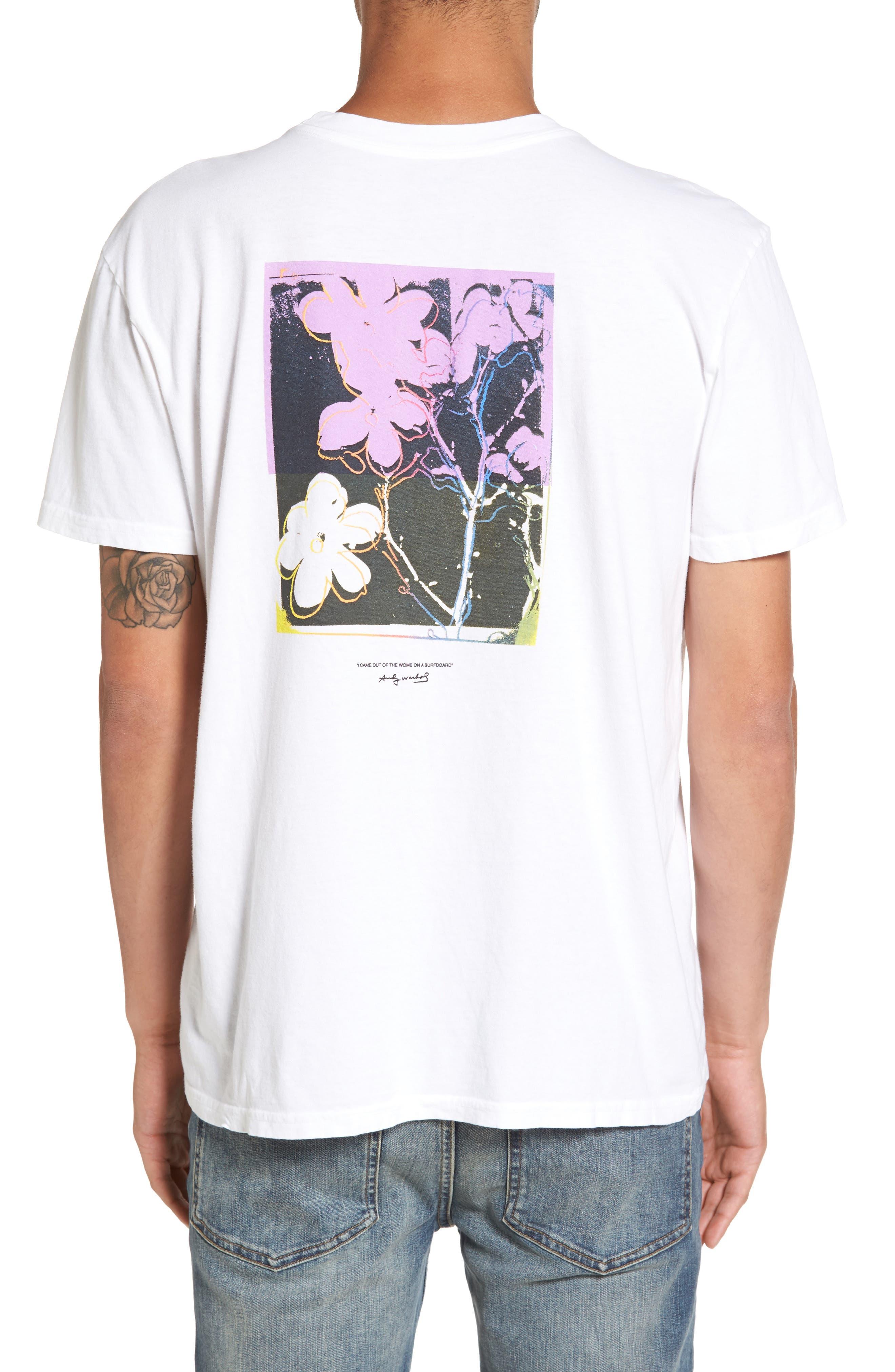 Flowers T-Shirt,                             Alternate thumbnail 2, color,                             Vintage White