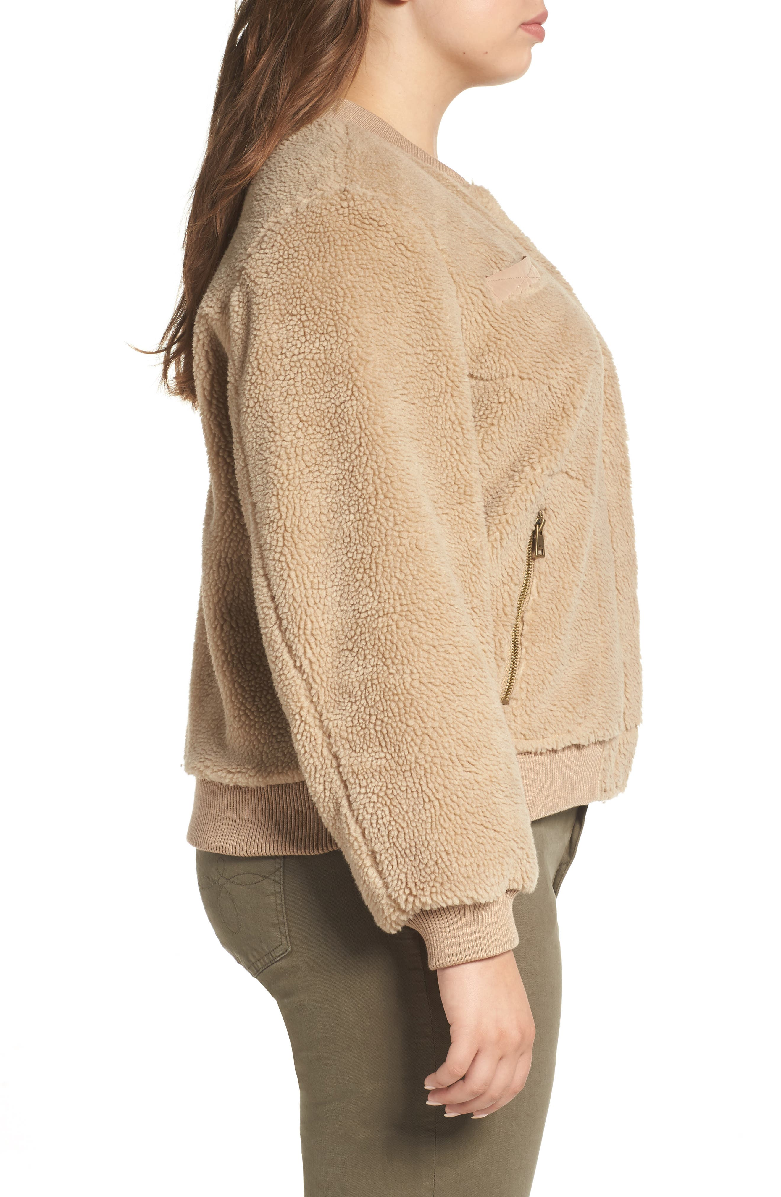 Alternate Image 3  - Levi's® Rib Knit Fleece Bomber Jacket