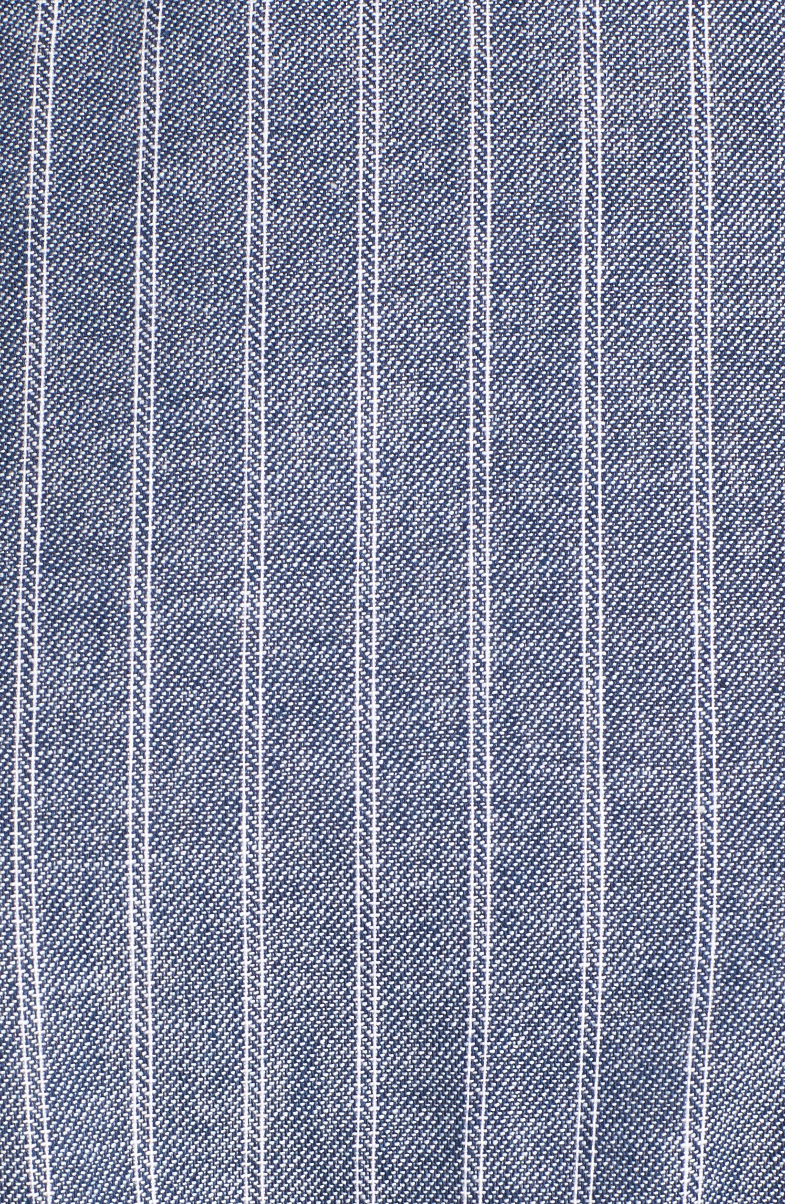 Alternate Image 5  - BP. Ruffle Trim Stripe Cotton Shift Dress