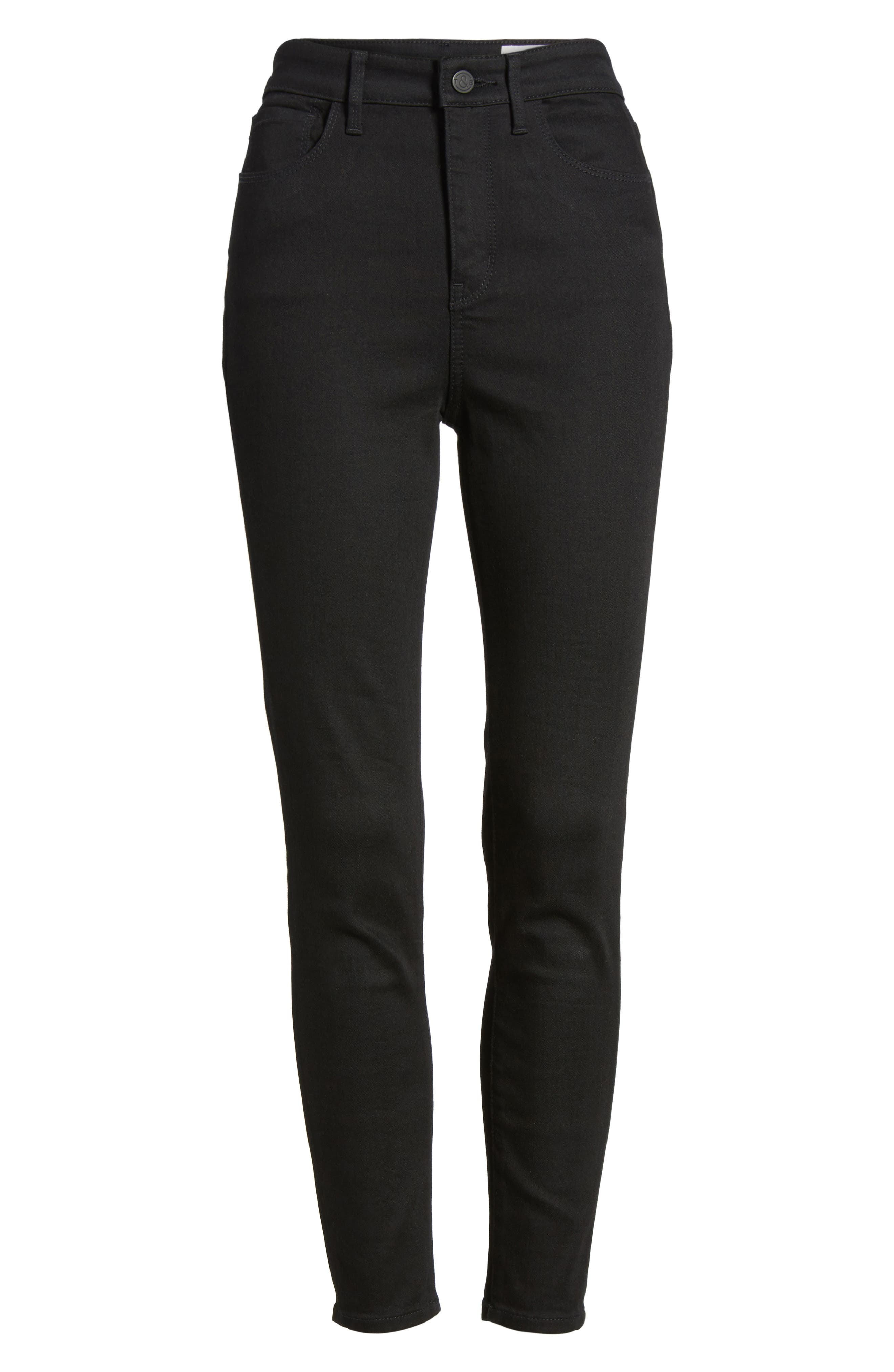 Alternate Image 7  - Treasure & Bond Charity High Waist Crop Skinny Jeans