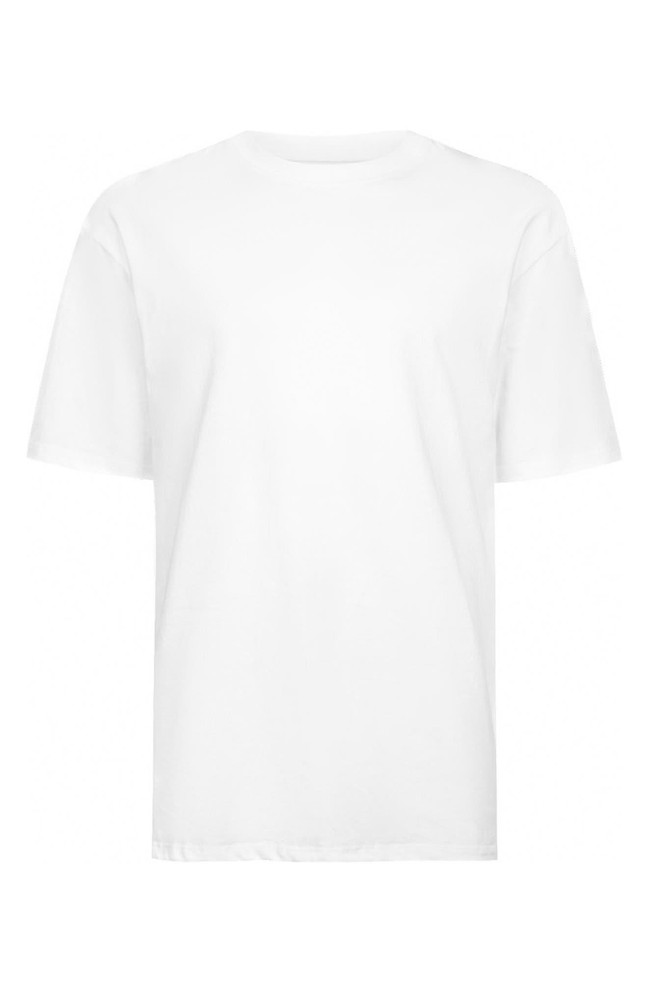 Oversize T-Shirt,                             Alternate thumbnail 4, color,                             White