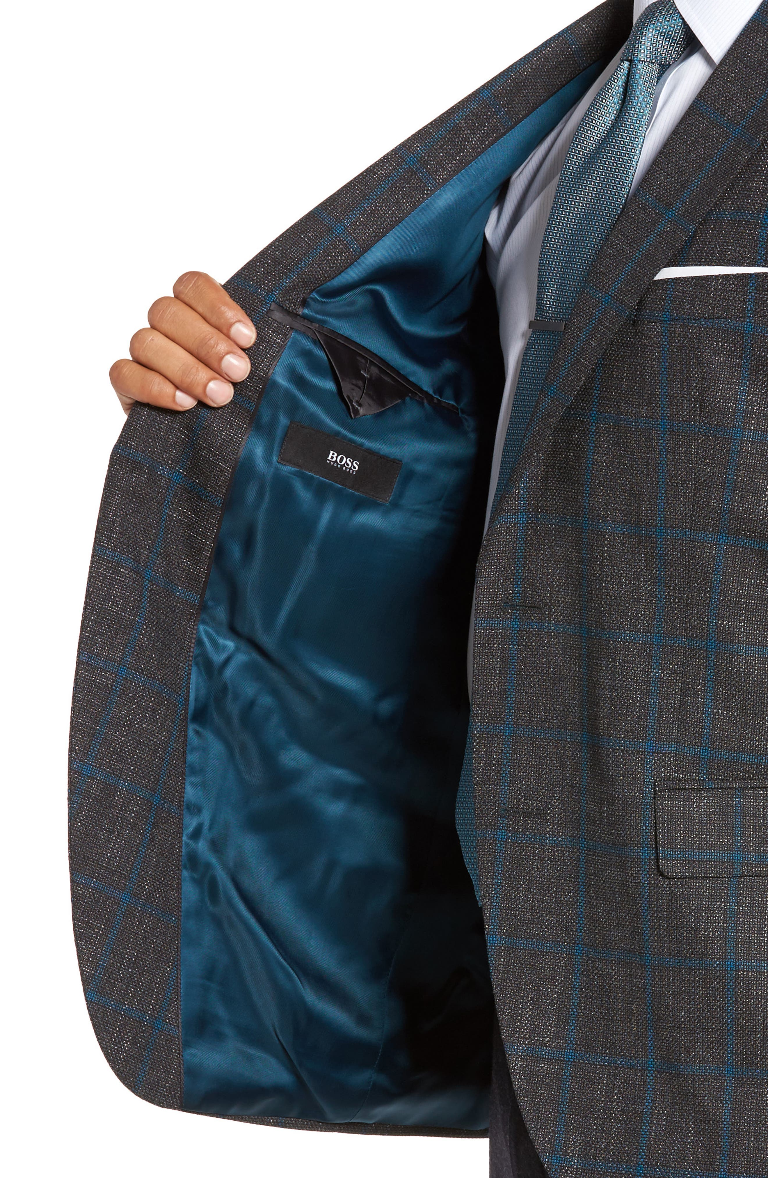 Alternate Image 4  - BOSS Jeen Classic Fit Wool Sport Coat