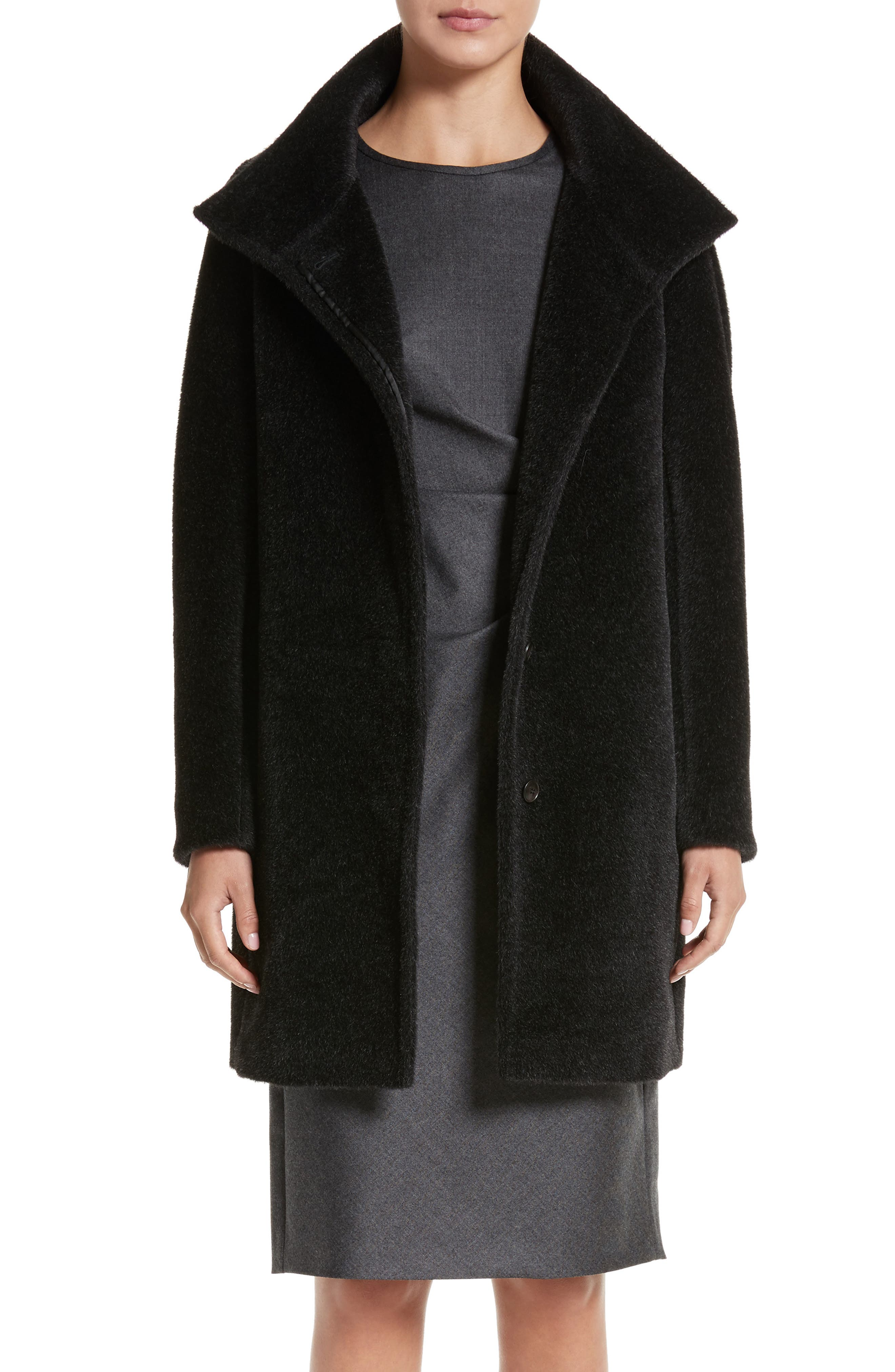 Alpaca & Wool Coat,                         Main,                         color, Dark Grey