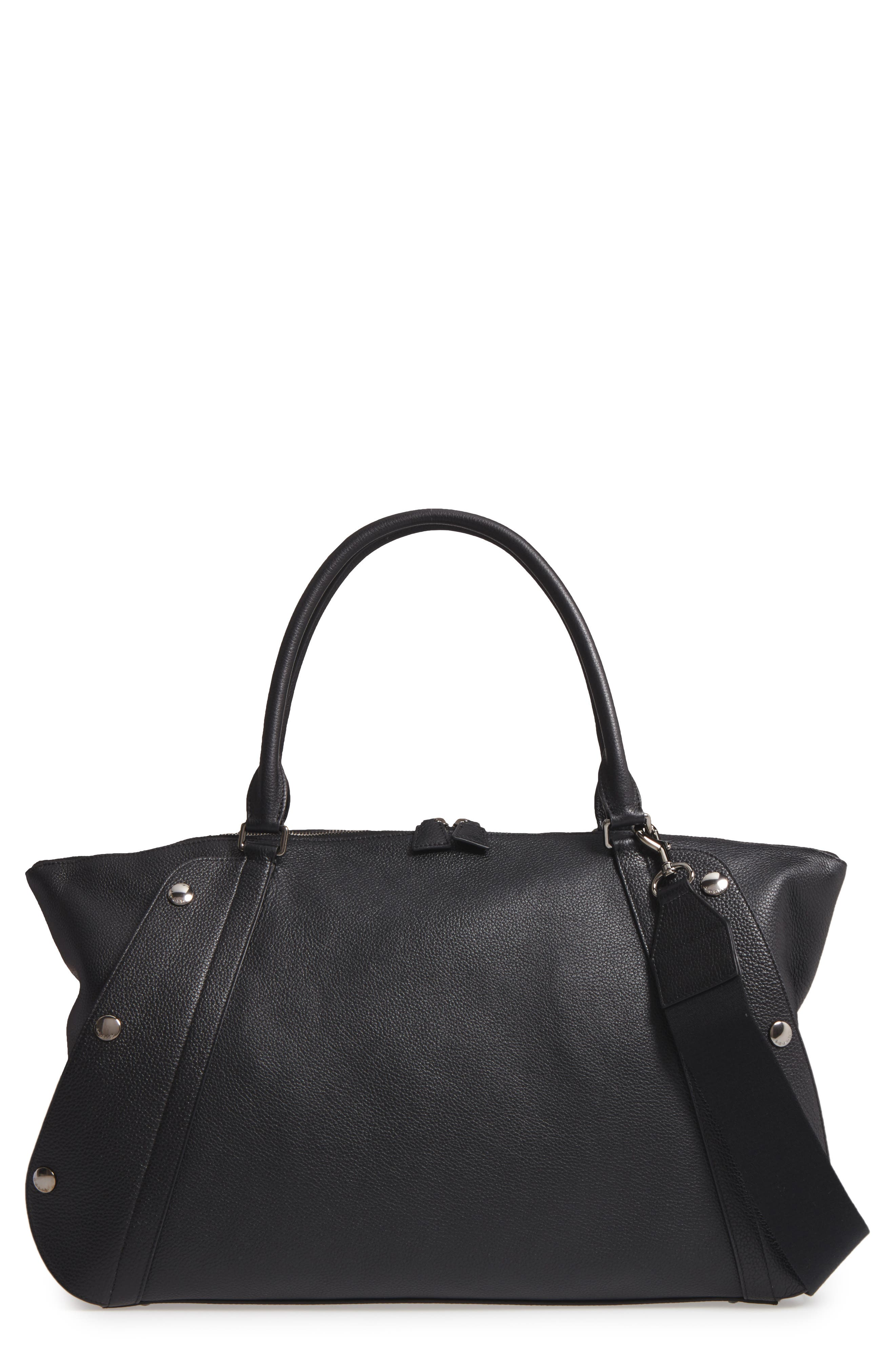 Akris Small Aimee Convertible Calfskin Satchel