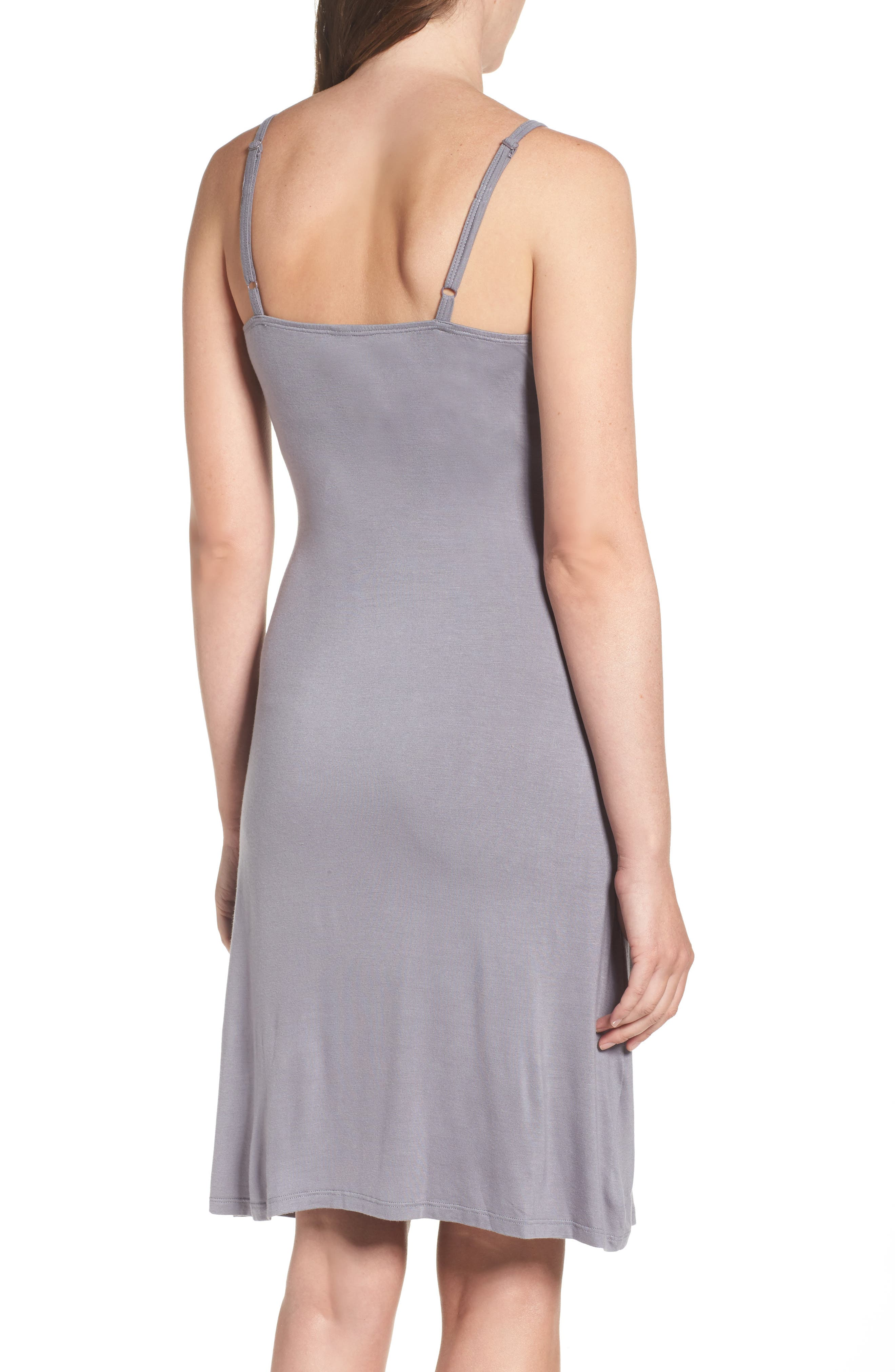 Maternity/Nursing Jersey Chemise,                             Alternate thumbnail 2, color,                             Grey