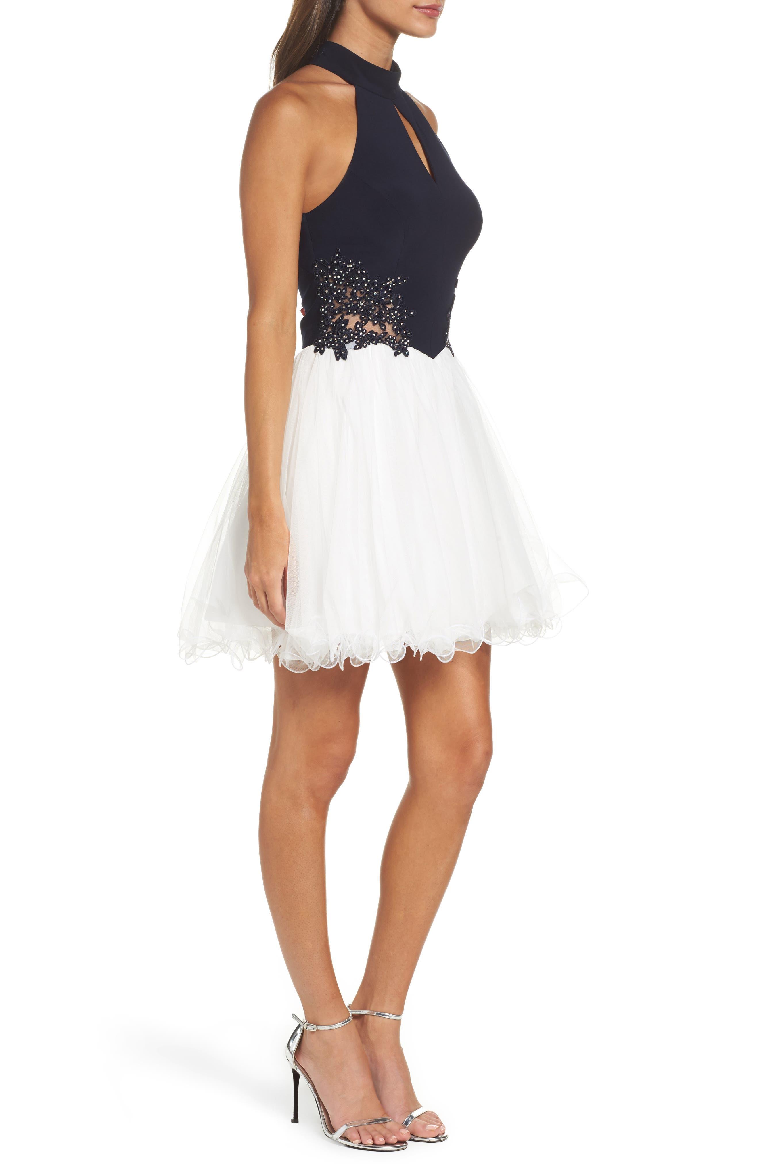 Alternate Image 3  - Blondie Nites Keyhole Appliqué Fit & Flare Dress