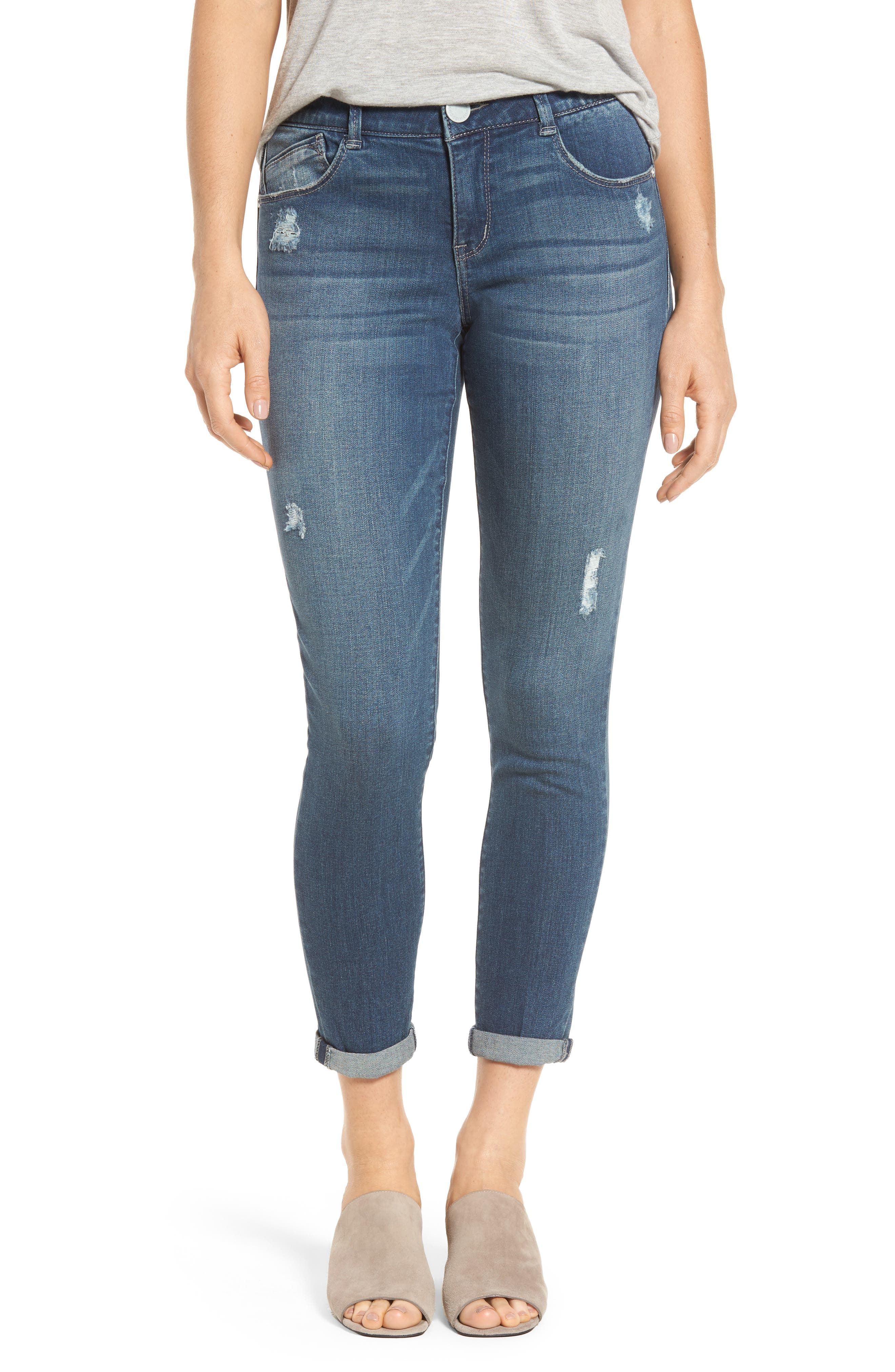 Main Image - Wit & Wisdom Ab-solution Boyfriend Ankle Jeans (Nordstrom Exclusive) (Regular & Petite)