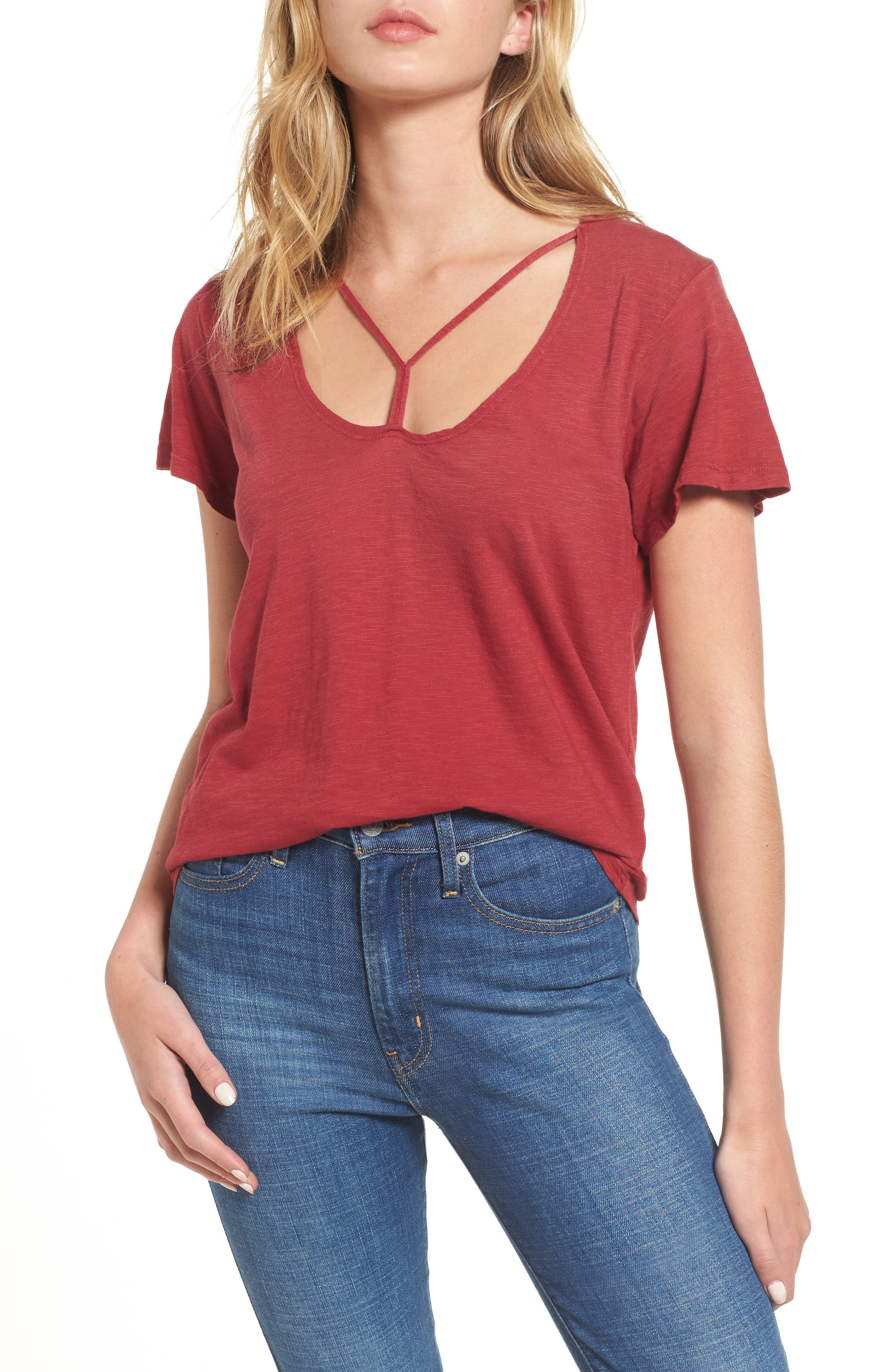 Alternate Image 1 Selected - LNA Union Strappy Tee