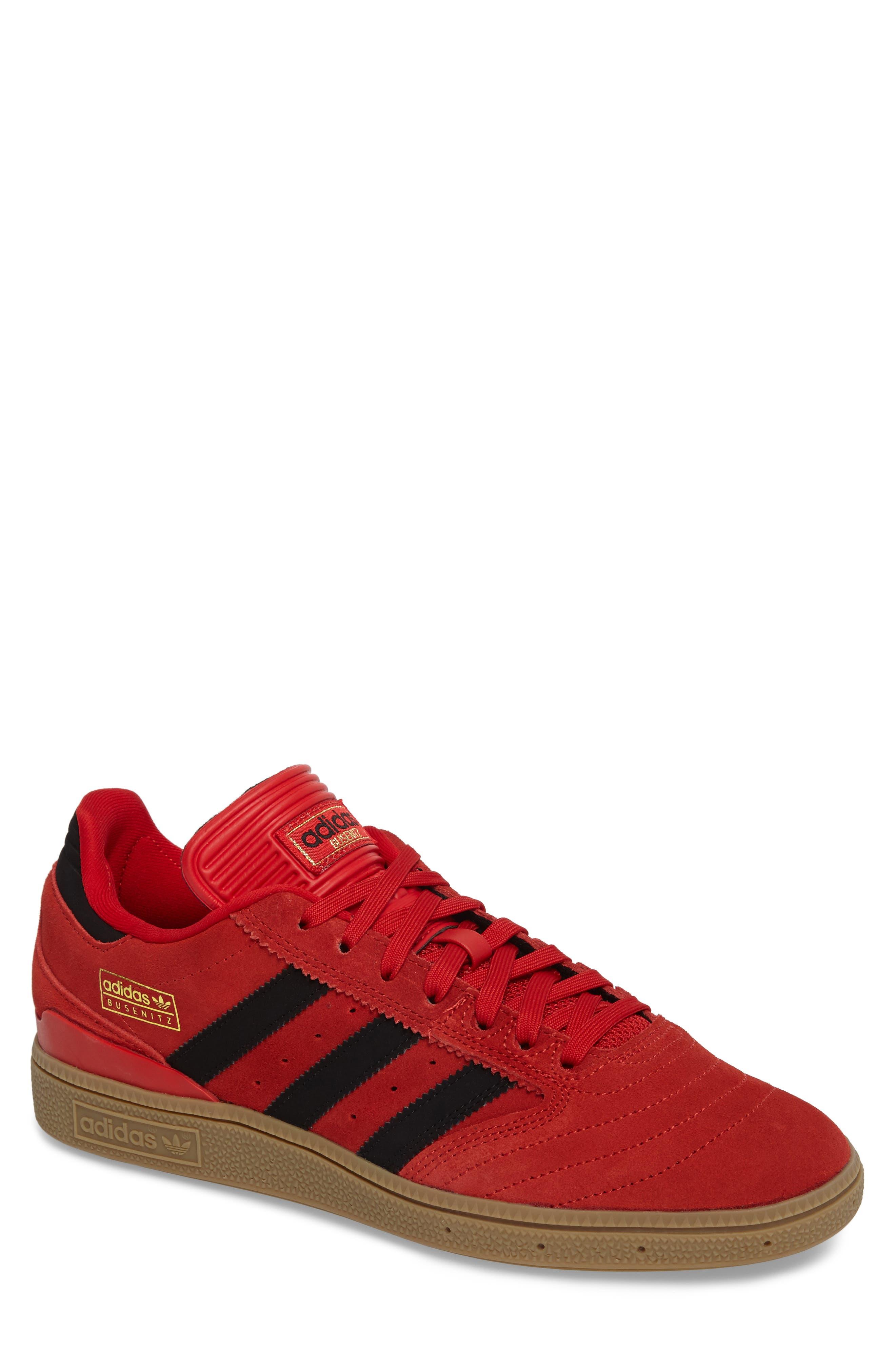 Busenitz Sneaker,                         Main,                         color, Scarlet/ Core Black/ Gum4