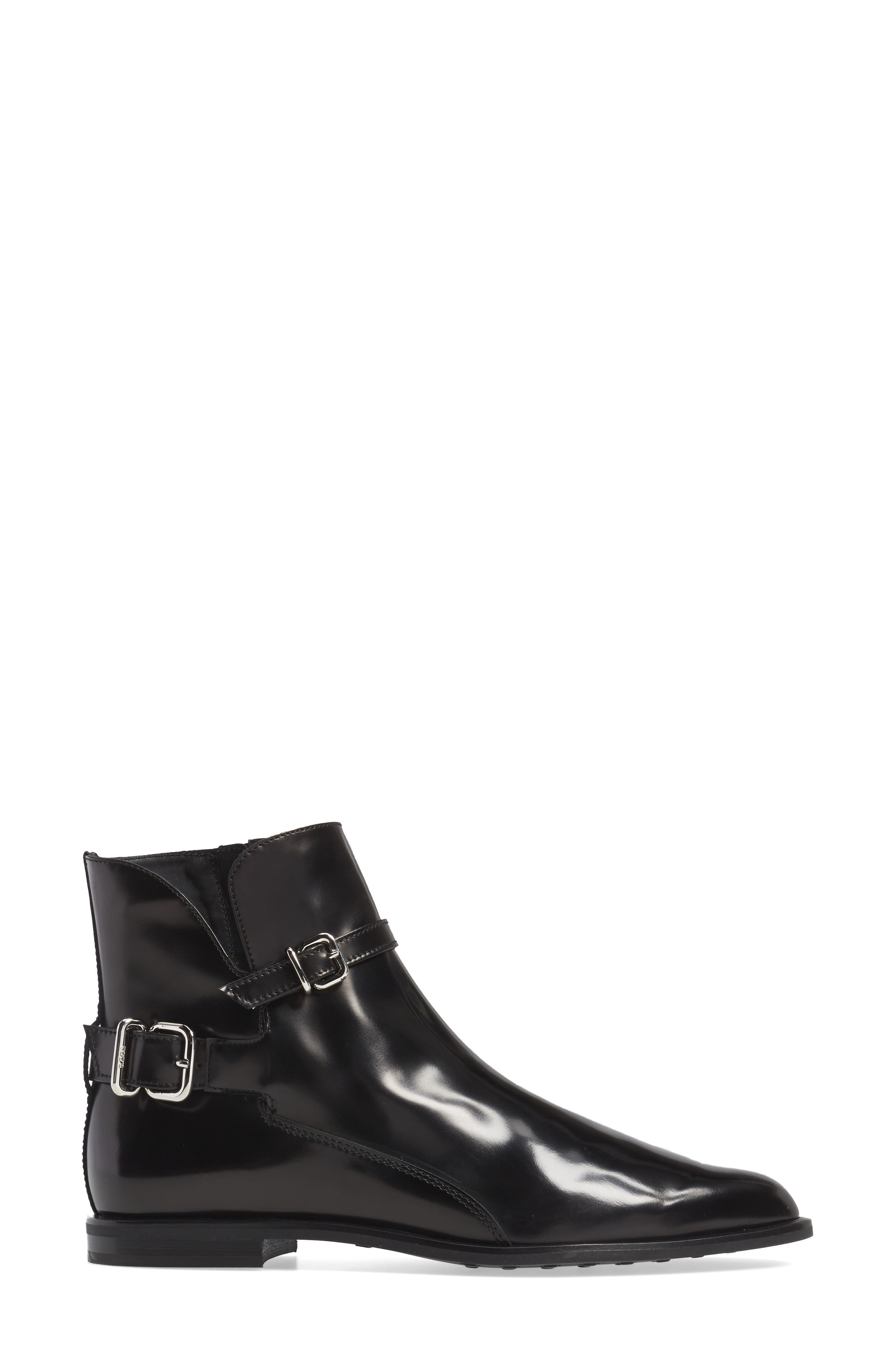 Pointy Toe Bootie,                             Alternate thumbnail 3, color,                             Black
