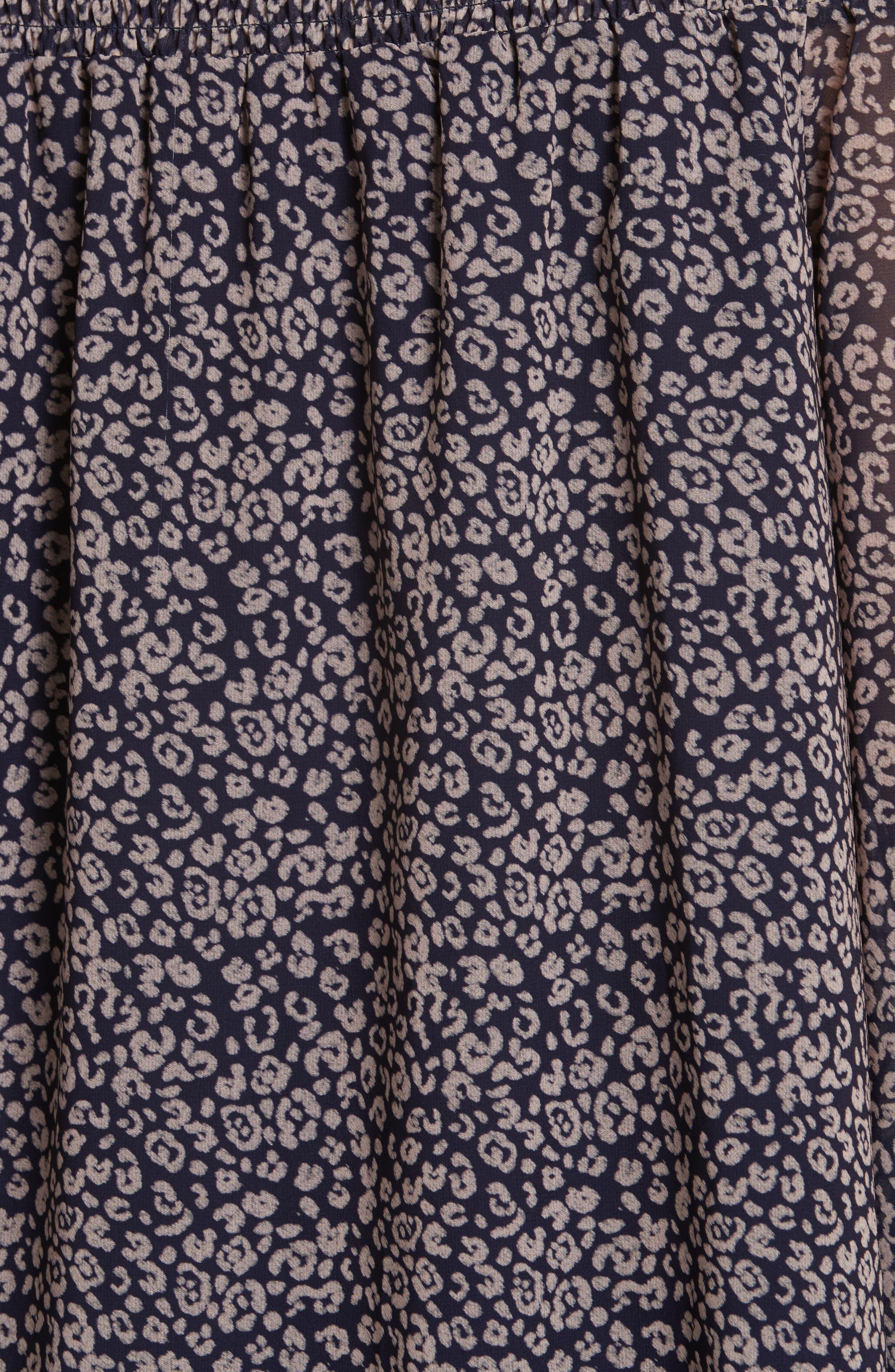 Avani Off the Shoulder Top,                             Alternate thumbnail 5, color,                             Purple Wine Leopard