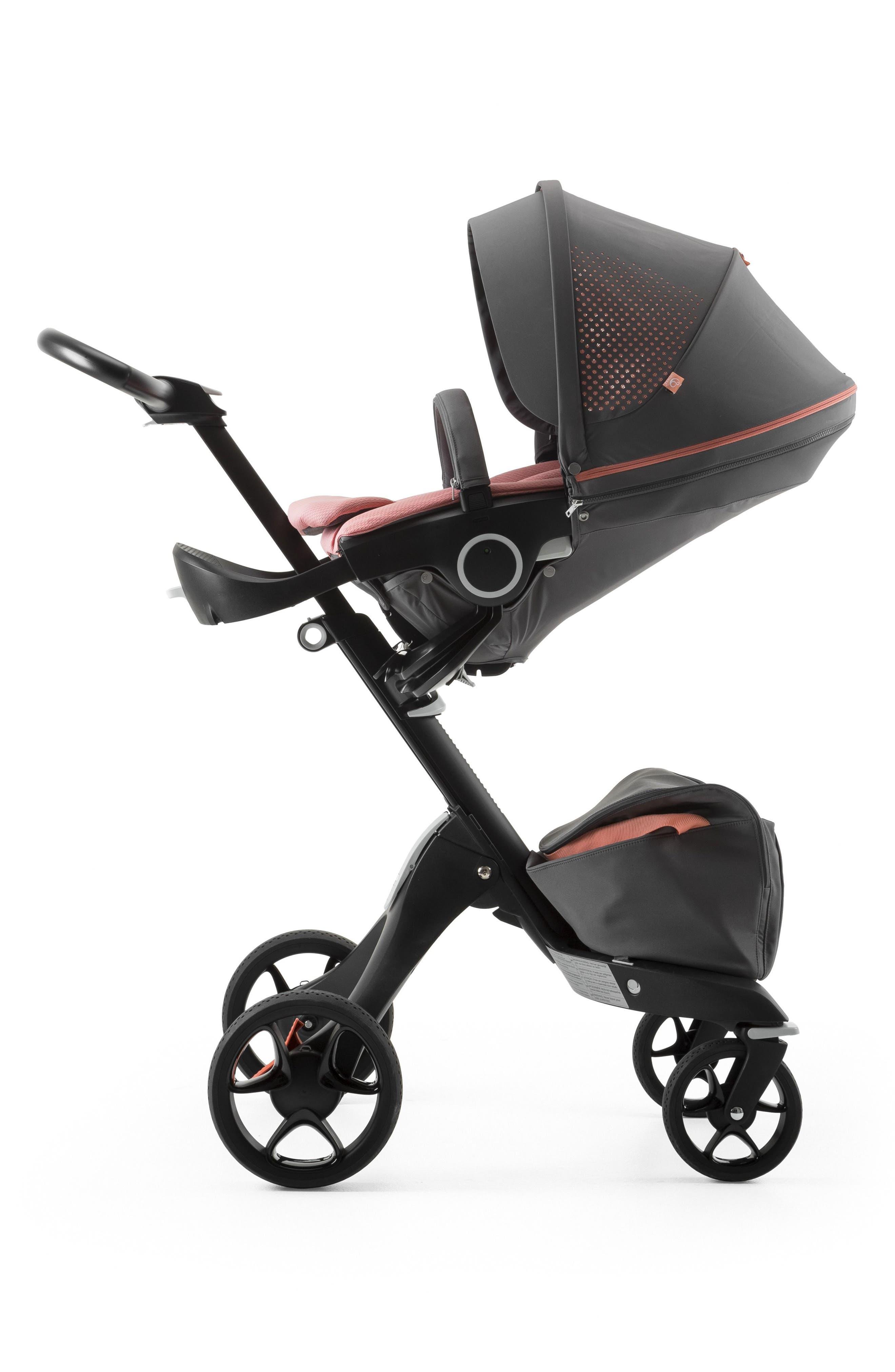 Xplory<sup>®</sup> V5 Black Athleisure Stroller,                             Alternate thumbnail 4, color,                             Coral