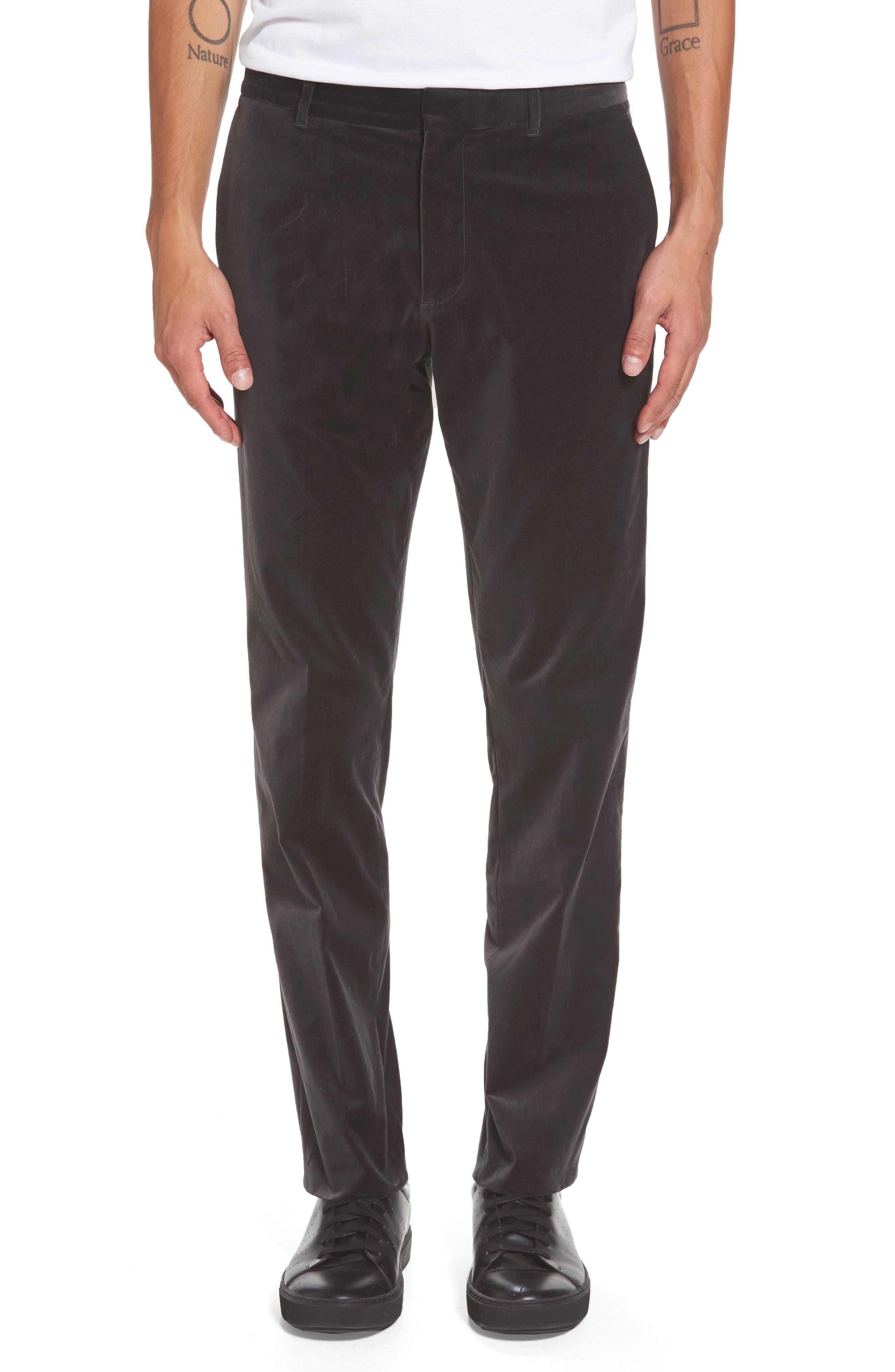 Velvet Trousers,                         Main,                         color, Castle Rock