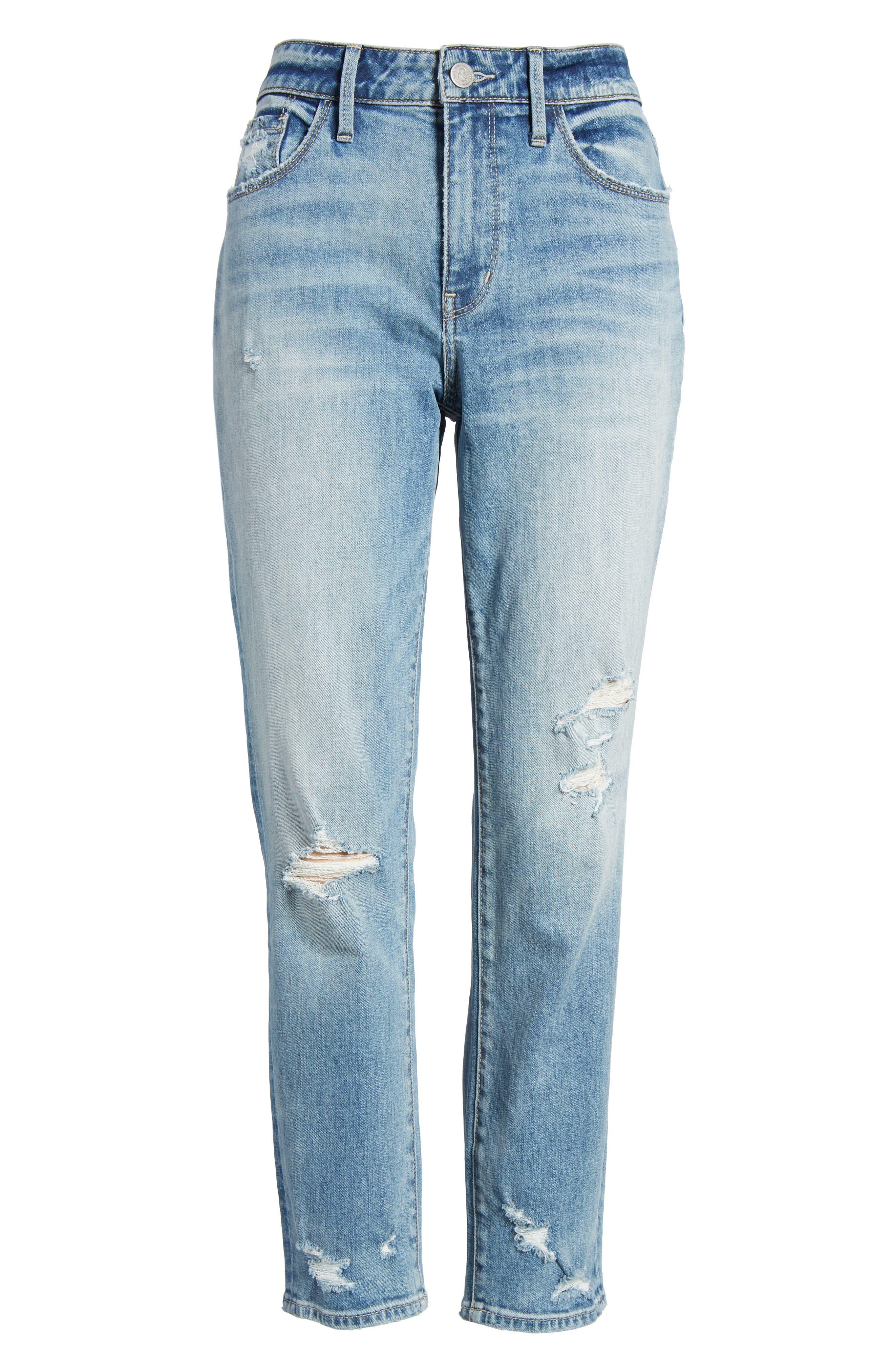 Loose Fit Slim Jeans,                             Alternate thumbnail 6, color,                             Gravel Light Destroy
