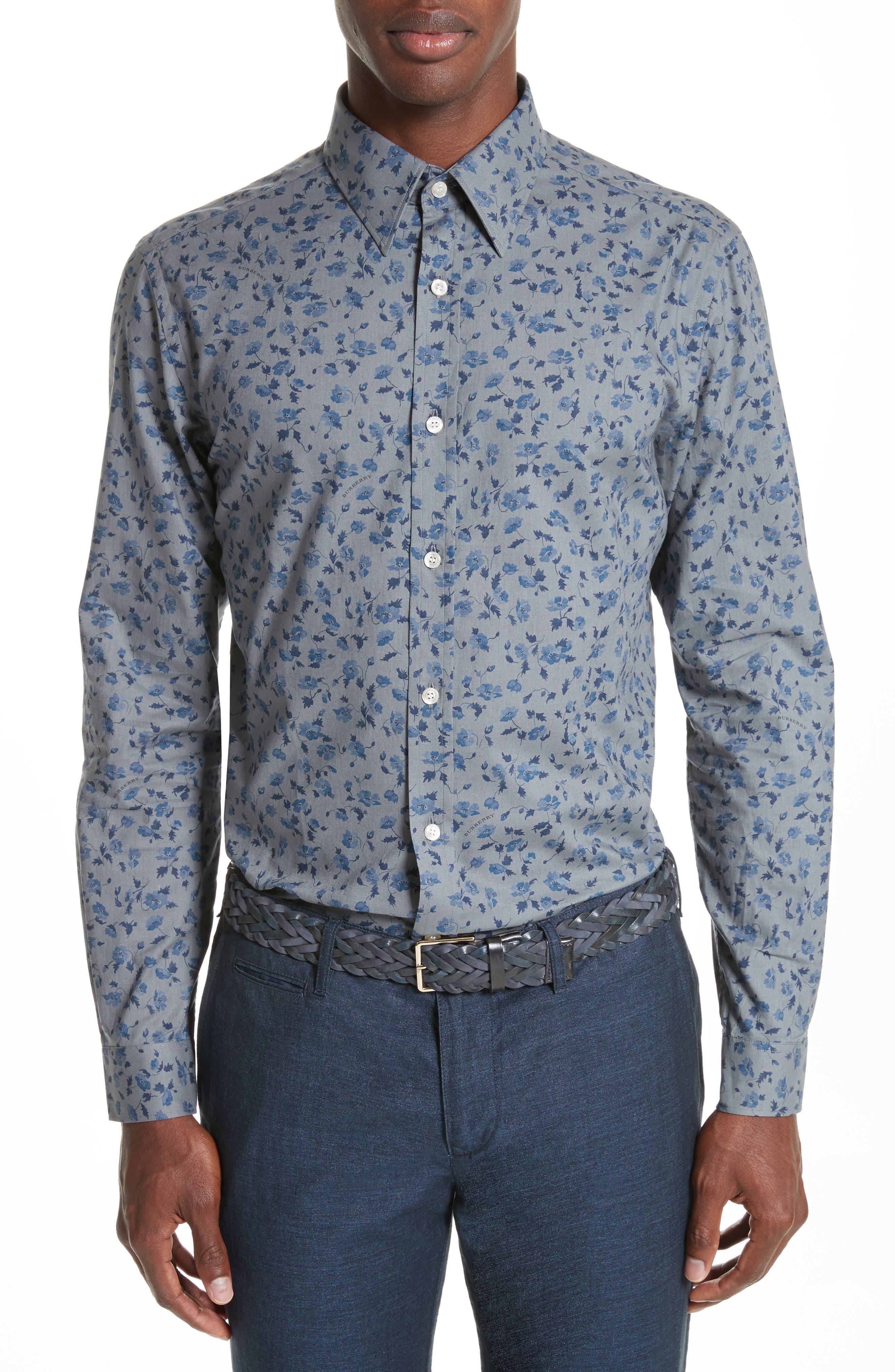 Connock Acdgi Classic Sport Shirt,                         Main,                         color, Stone Blue