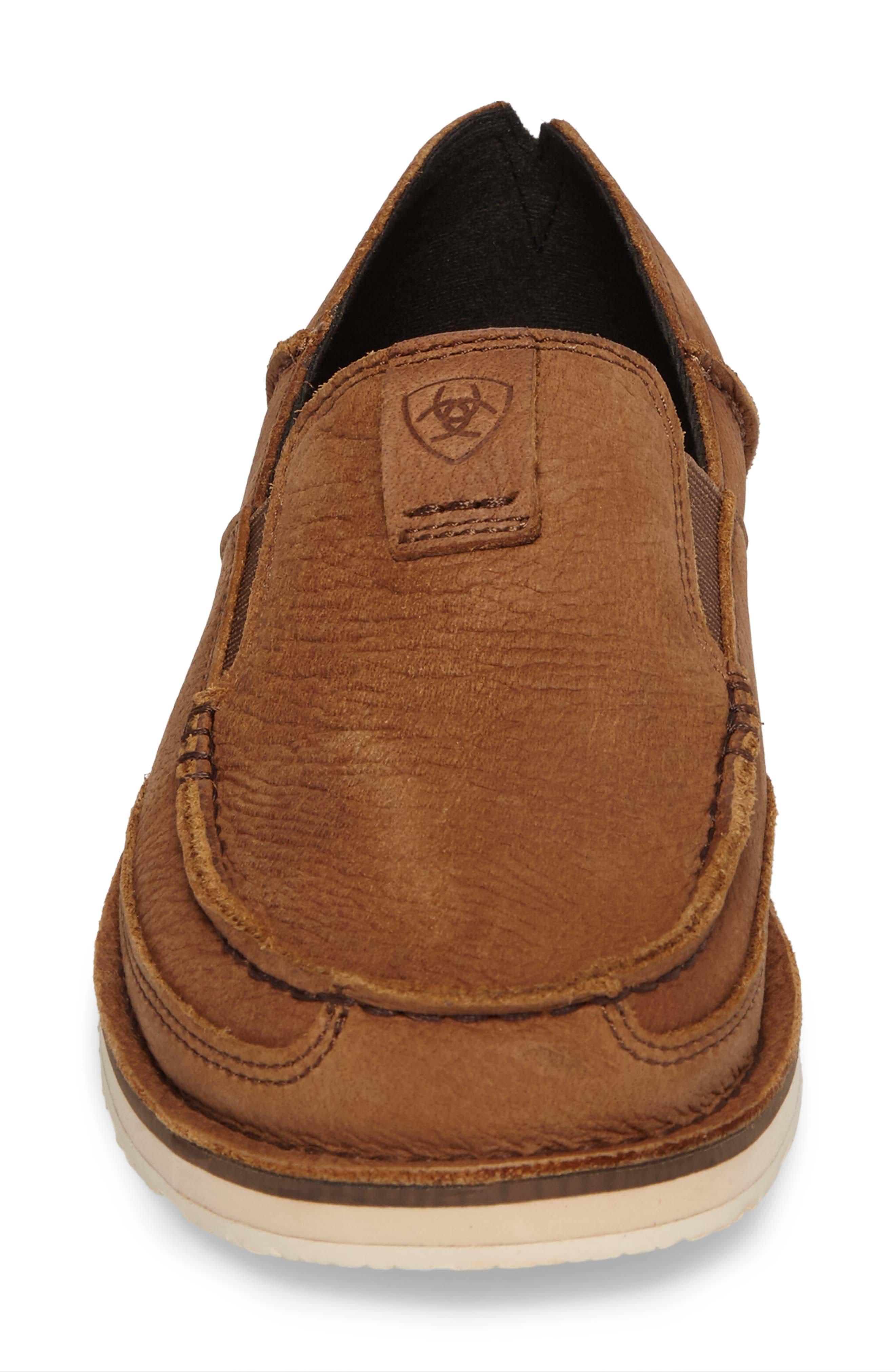 'Cruiser' Slip-On,                             Alternate thumbnail 4, color,                             Aged Bark Leather