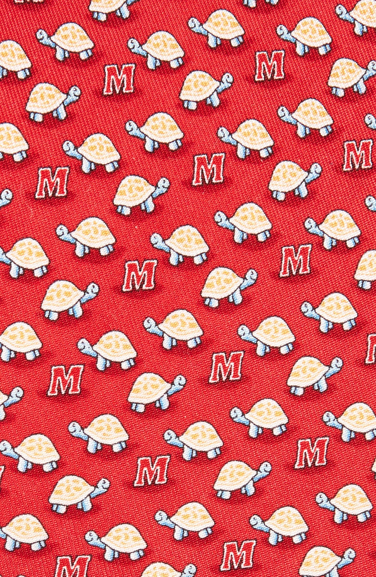 Maryland Terrapins Silk Tie,                             Alternate thumbnail 2, color,                             Red