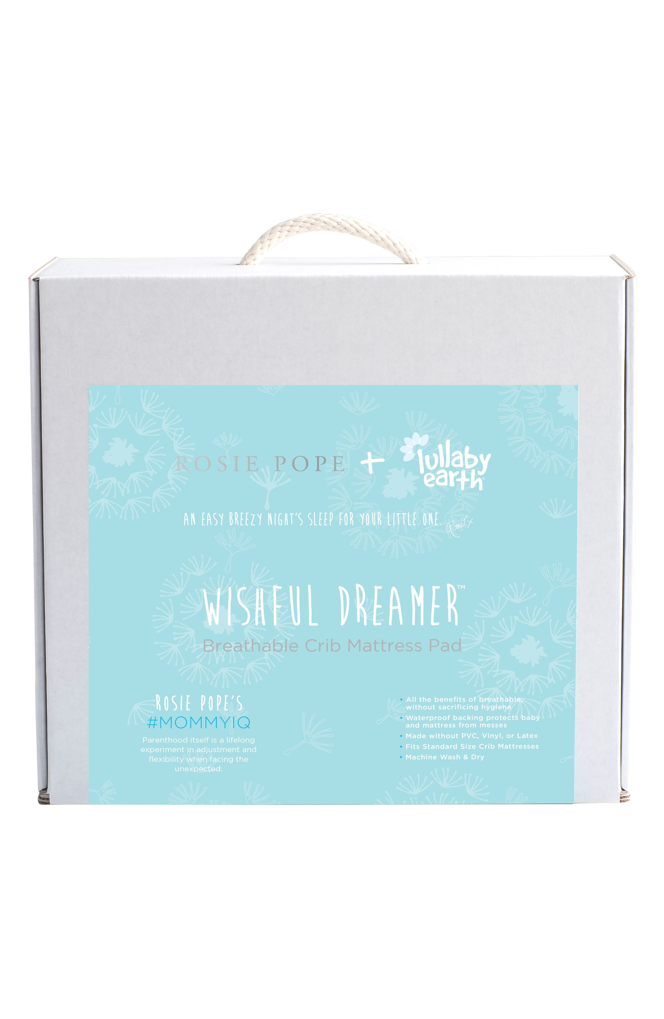 Alternate Image 2  - Lullaby Earth x Rosie Pope Wishful Dreamer Breathable Crib Mattress Pad