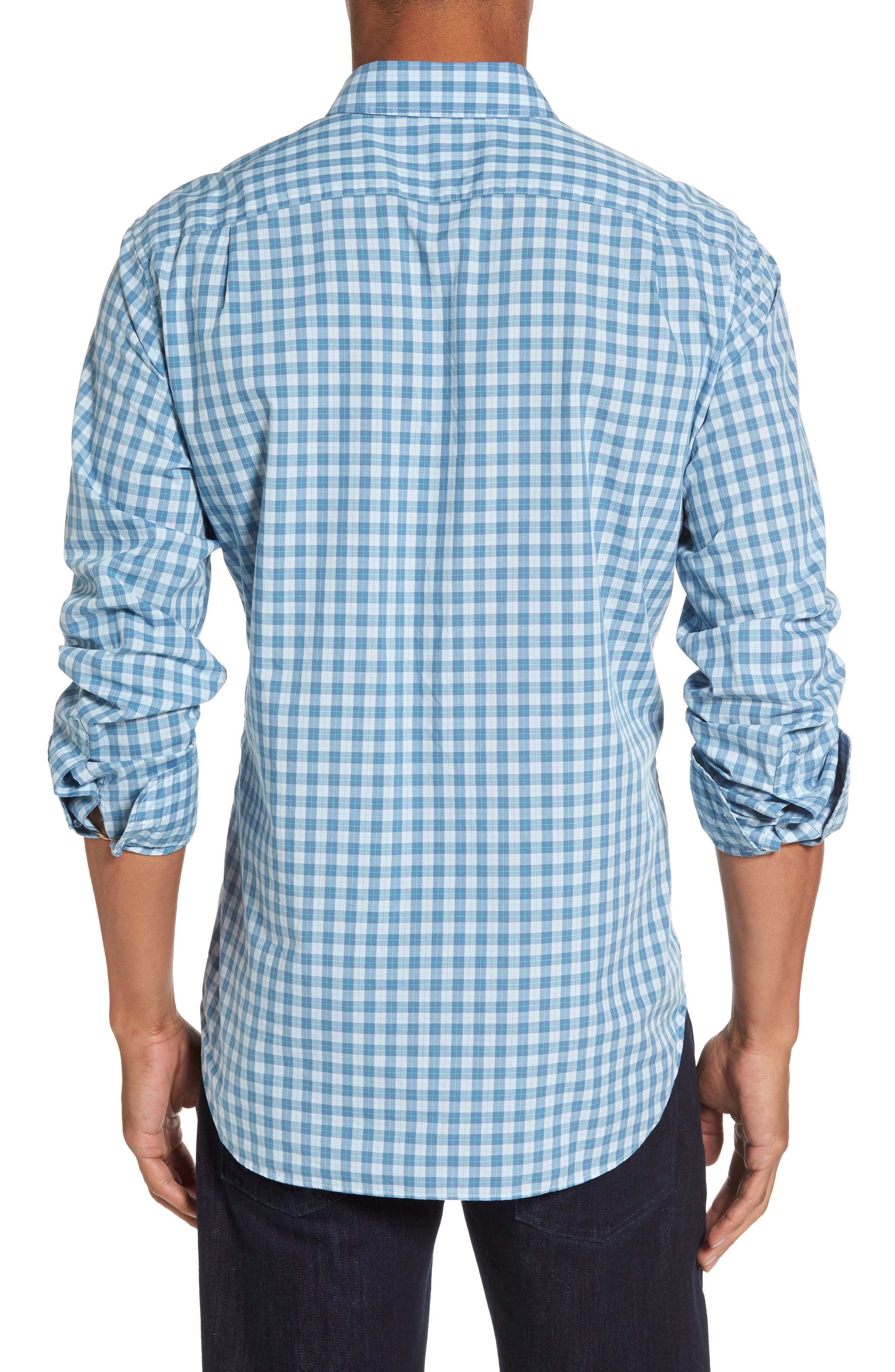 Summerweight Slim Fit Check Sport Shirt,                             Alternate thumbnail 2, color,                             Airway Check