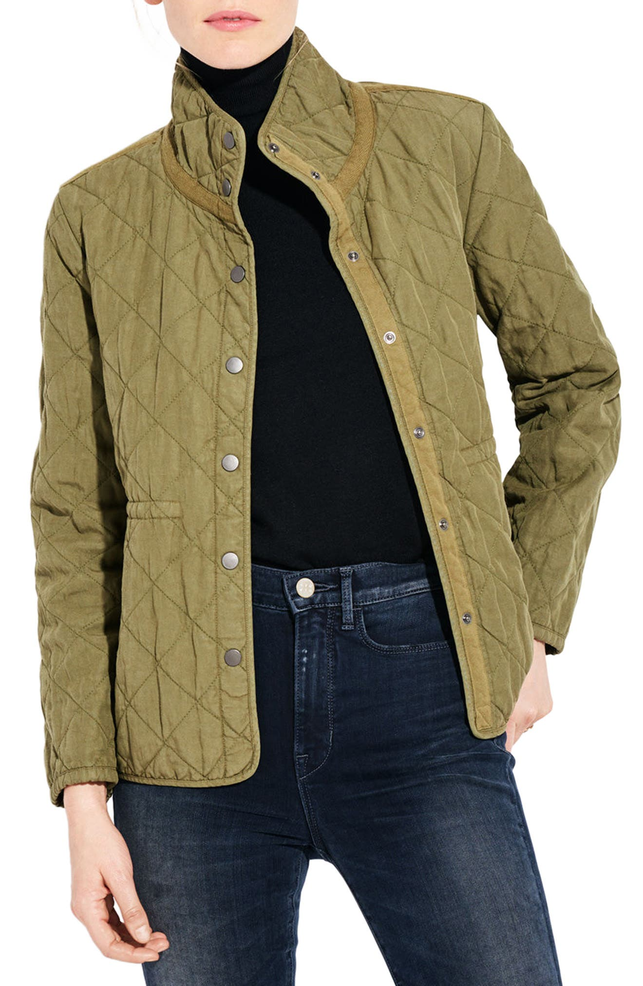 The Blast Quilted Jacket,                             Main thumbnail 1, color,                             Cargo Green