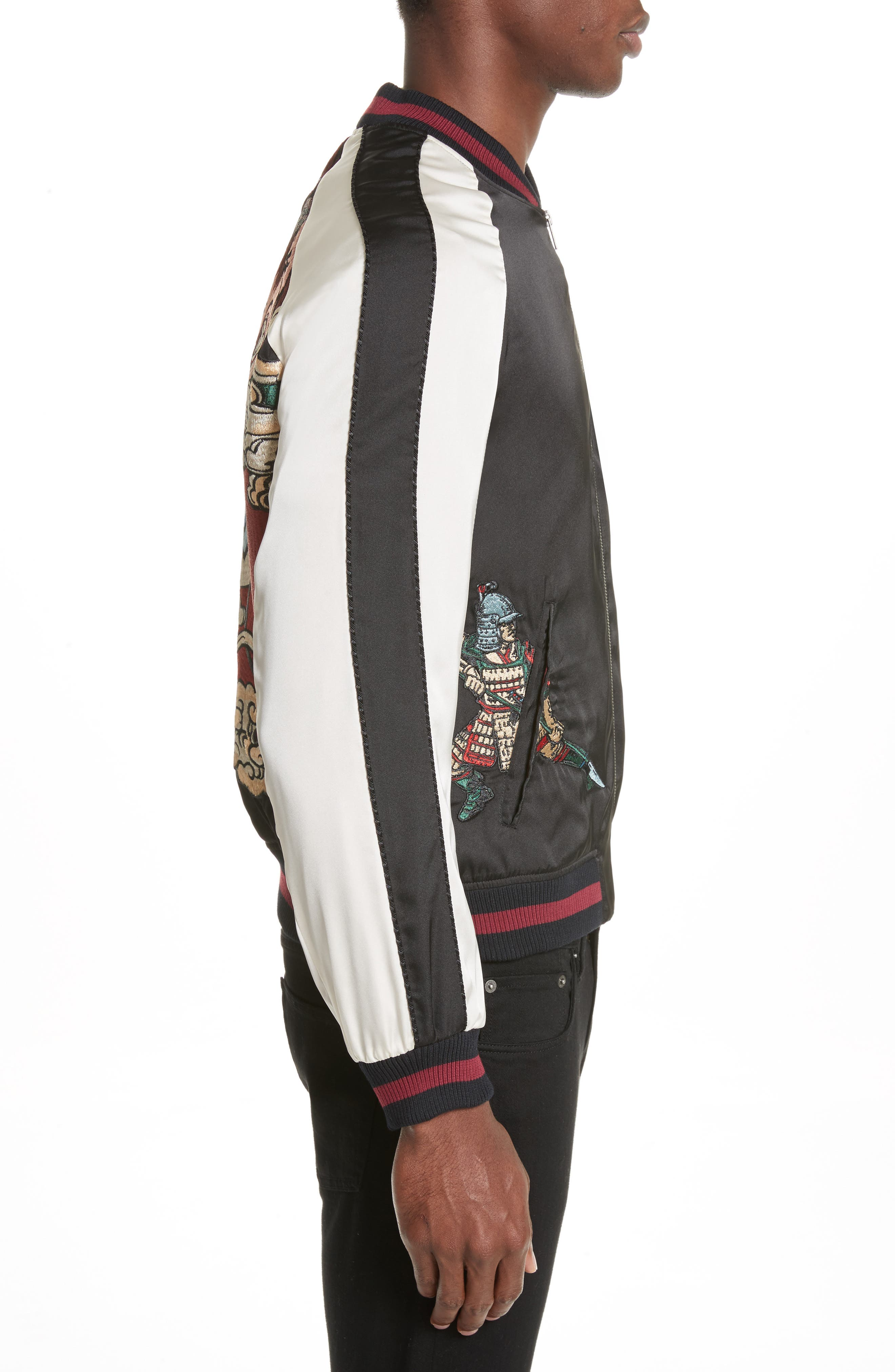 Alternate Image 3  - The Kooples Embroidered Two-Tone Bomber Jacket