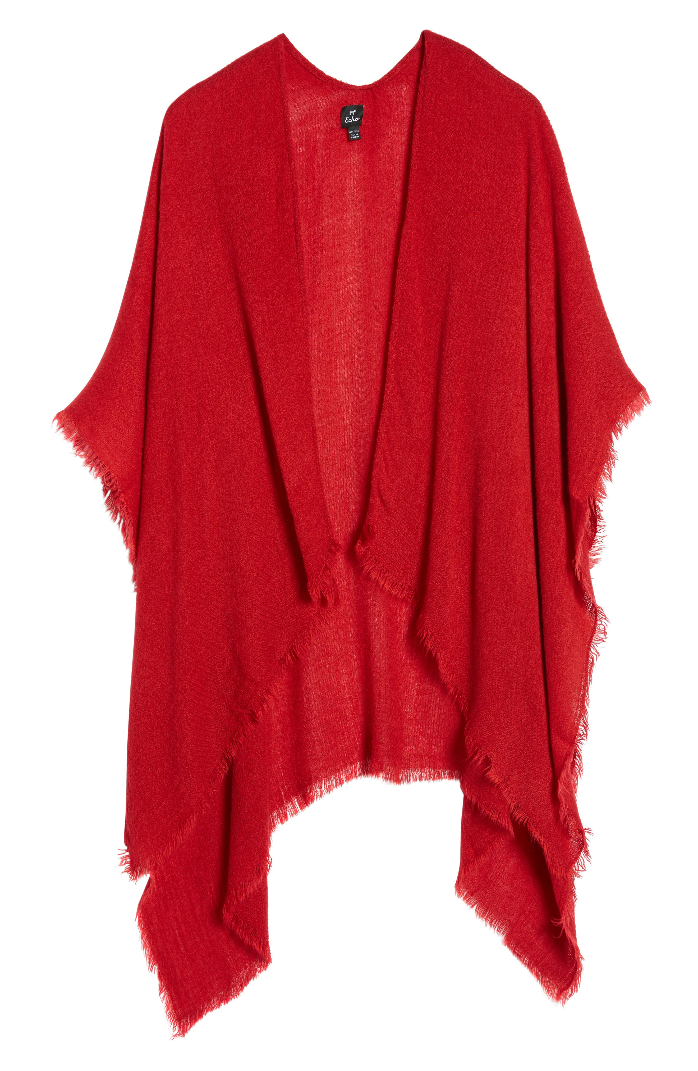 Alternate Image 6  - Echo Fringe Trim Cape