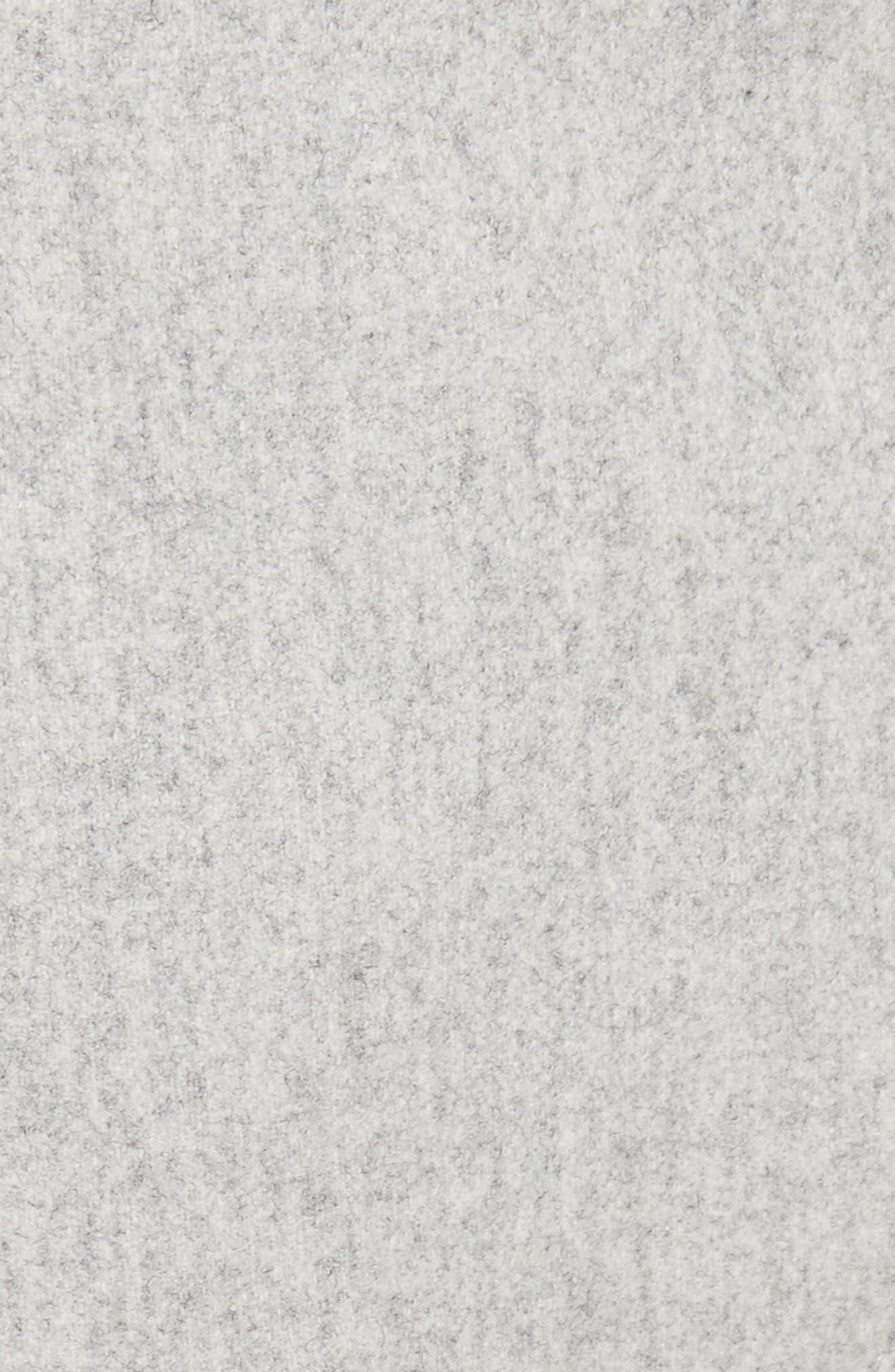 Mélange Wool Blend Trousers,                             Alternate thumbnail 4, color,                             Light Grey Melange