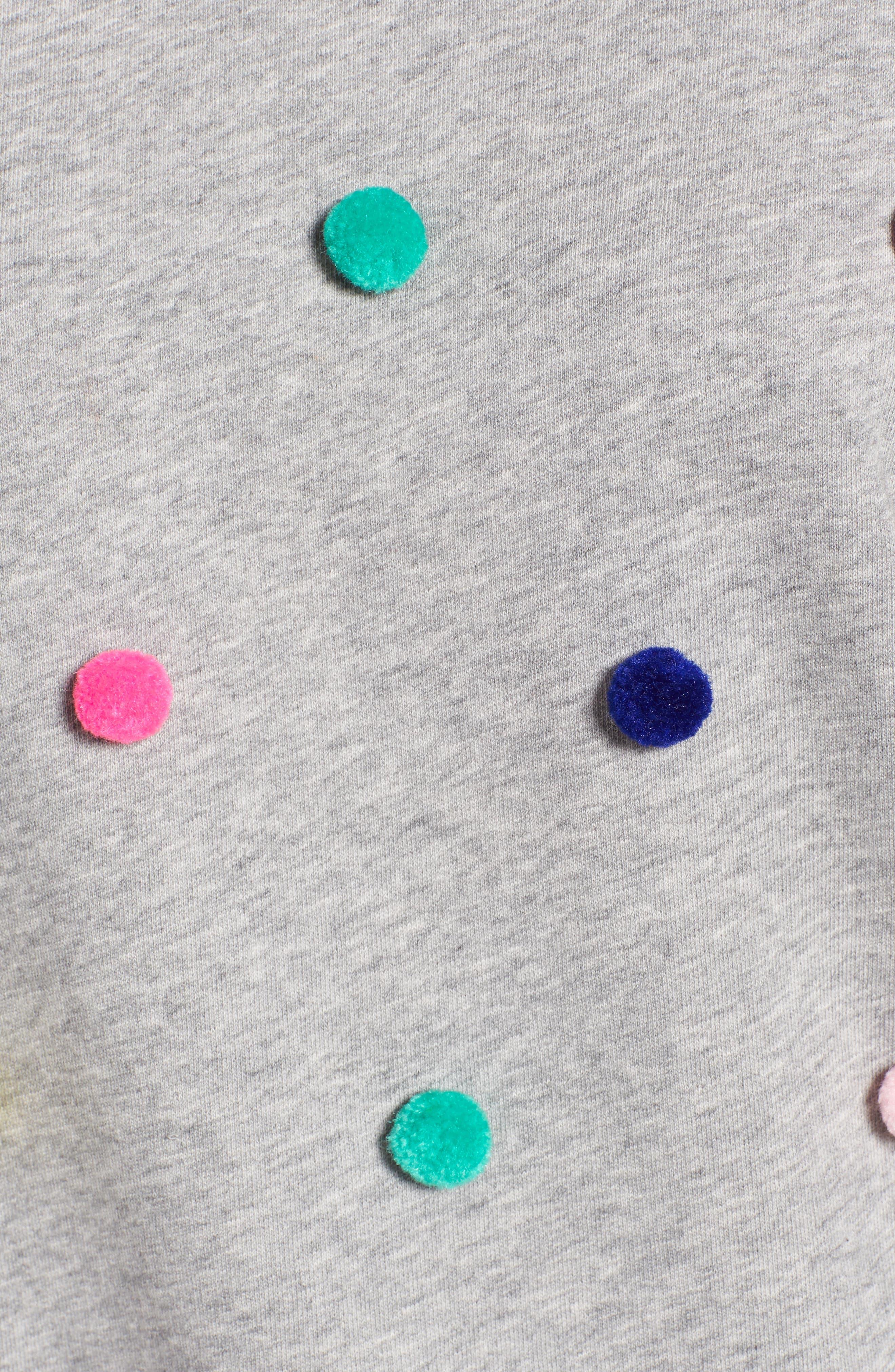 Pompom Sweatshirt,                             Alternate thumbnail 5, color,                             Grey