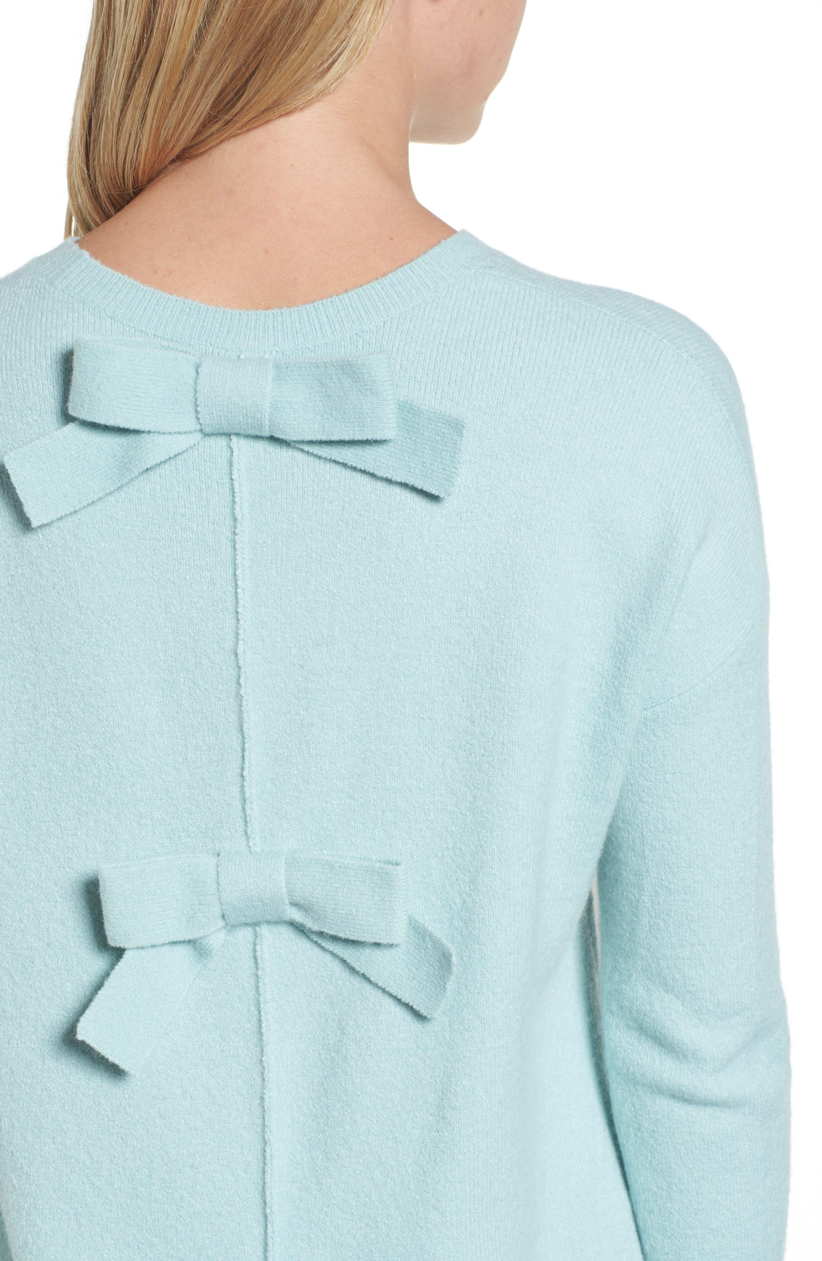 Alternate Image 4  - Halogen® Bow Back Sweater (Regular & Petite)