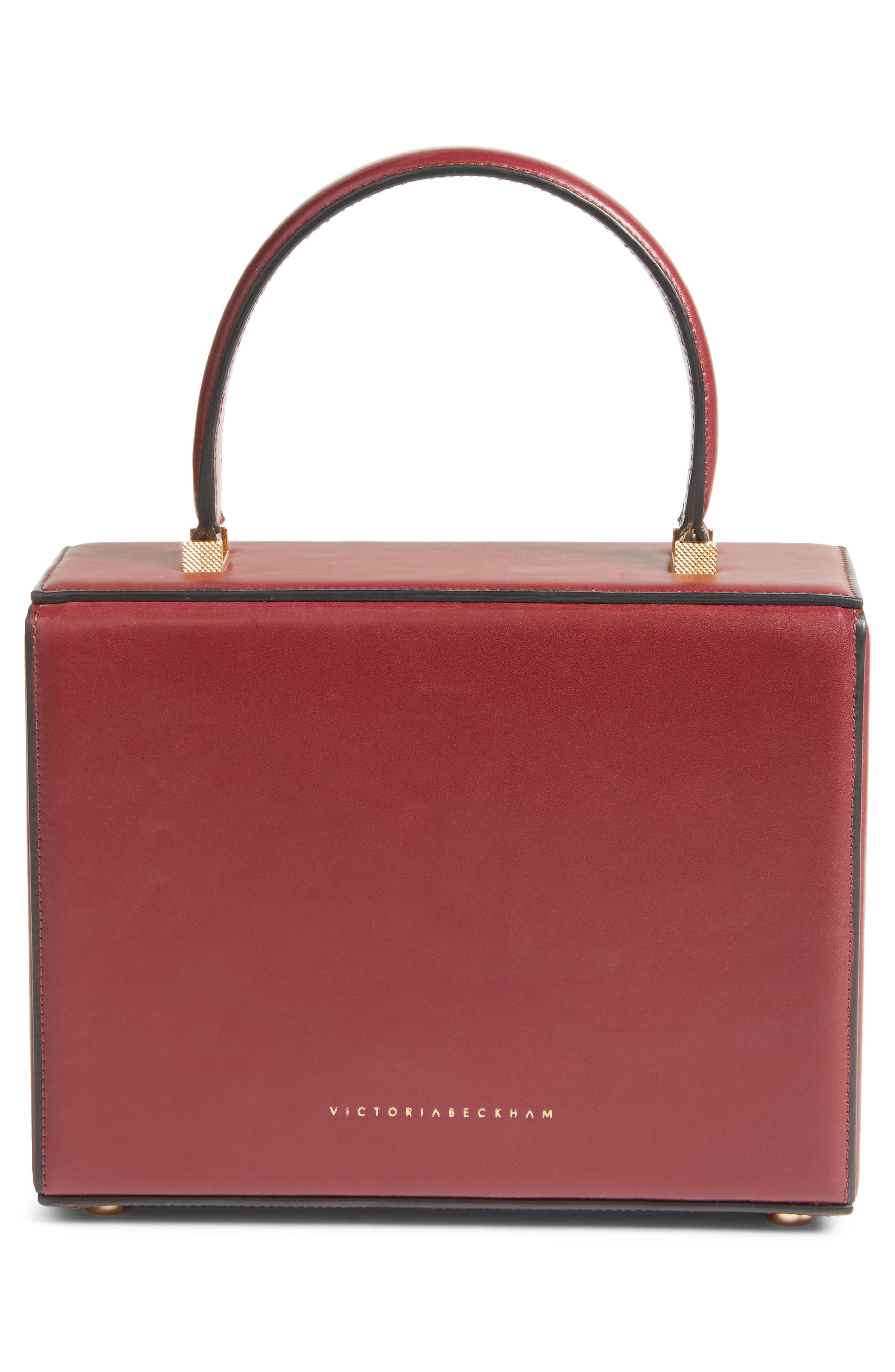 Mini Vanity Top Handle Box Bag,                             Alternate thumbnail 2, color,                             Bordeaux