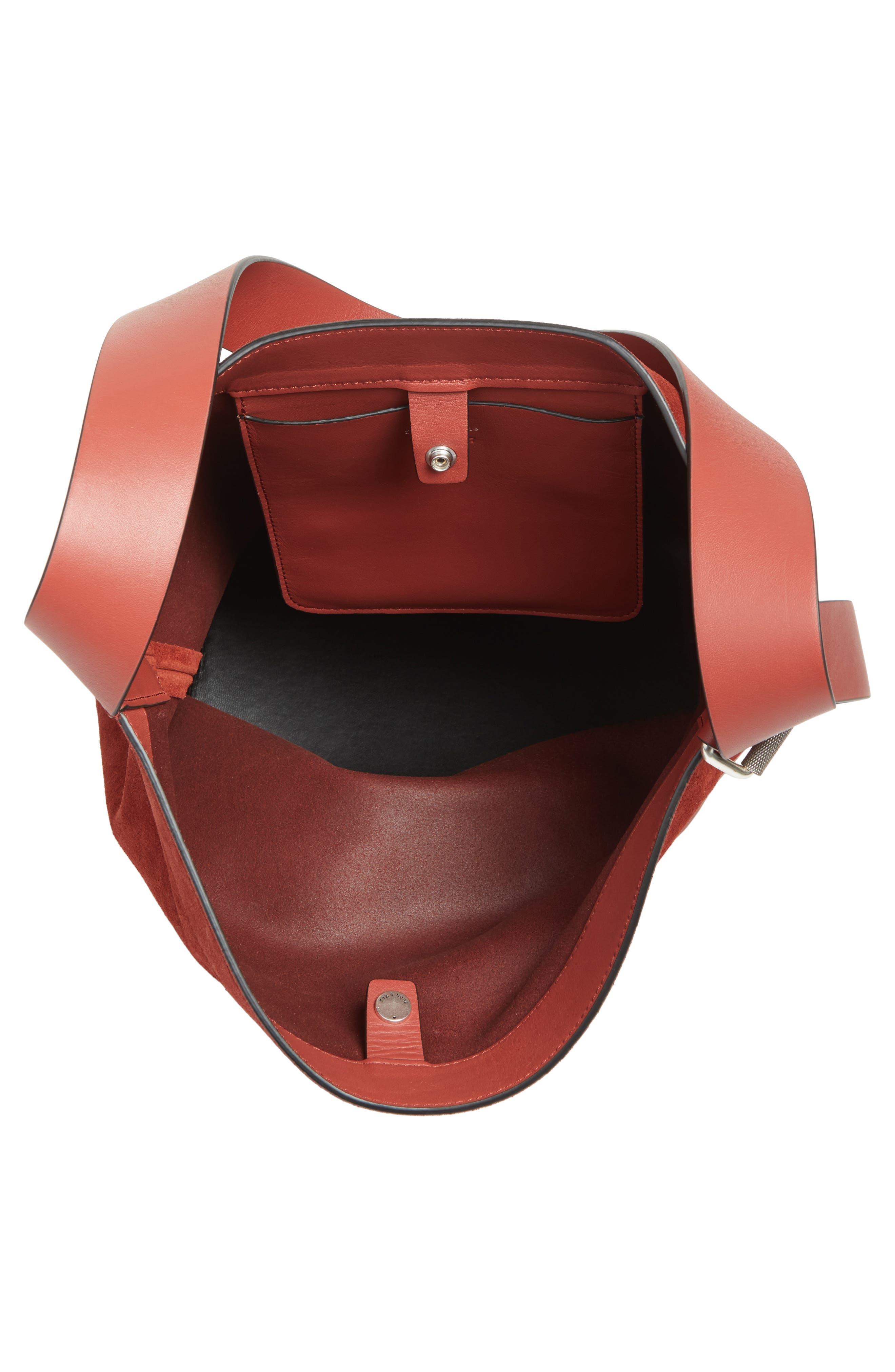 Alternate Image 3  - rag and bone Walker Sling Leather & Suede Bucket Bag