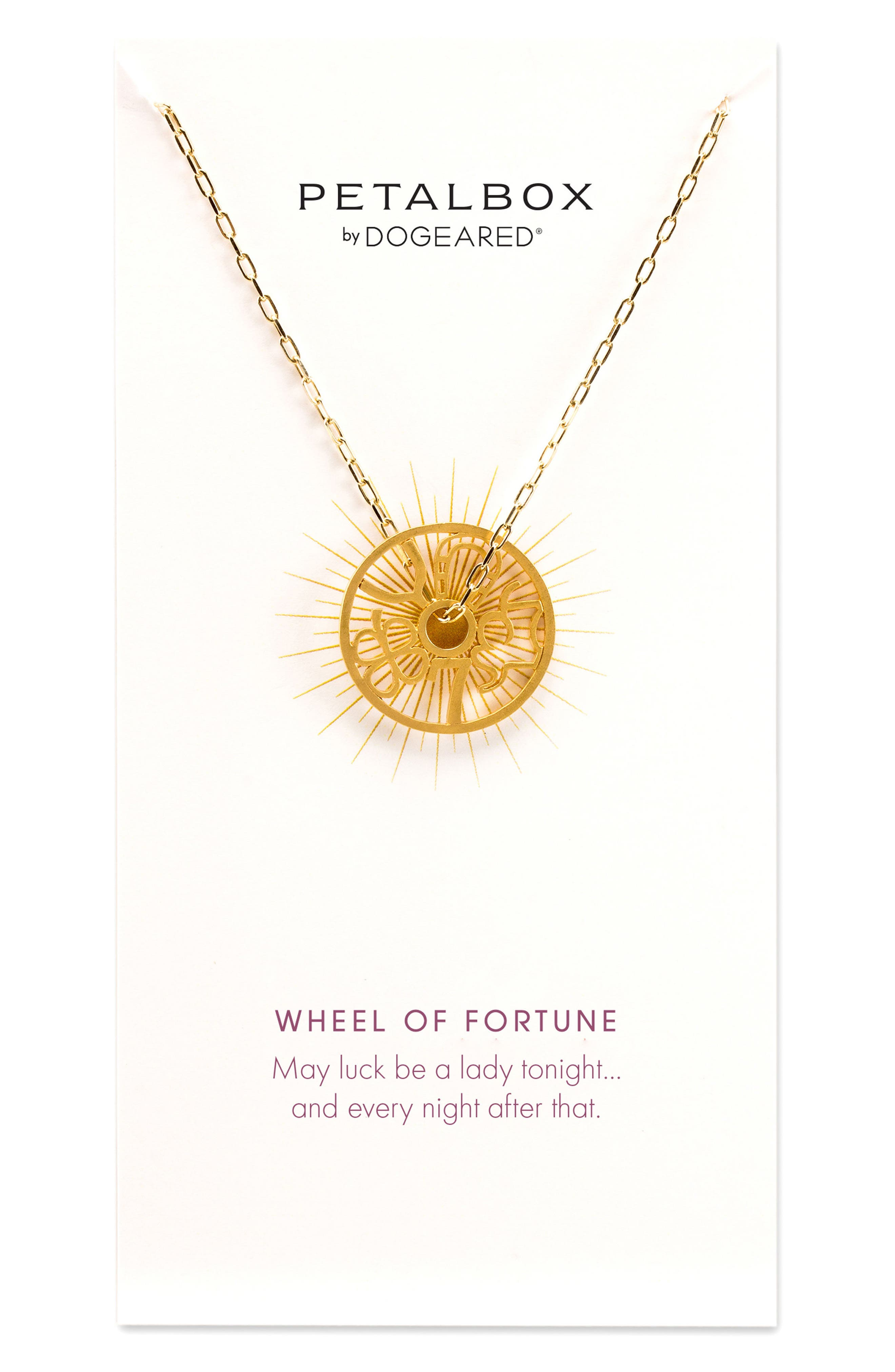 Main Image - Dogeared Petalbox Wheel of Fortune Pendant Necklace (Nordstrom Exclusive)