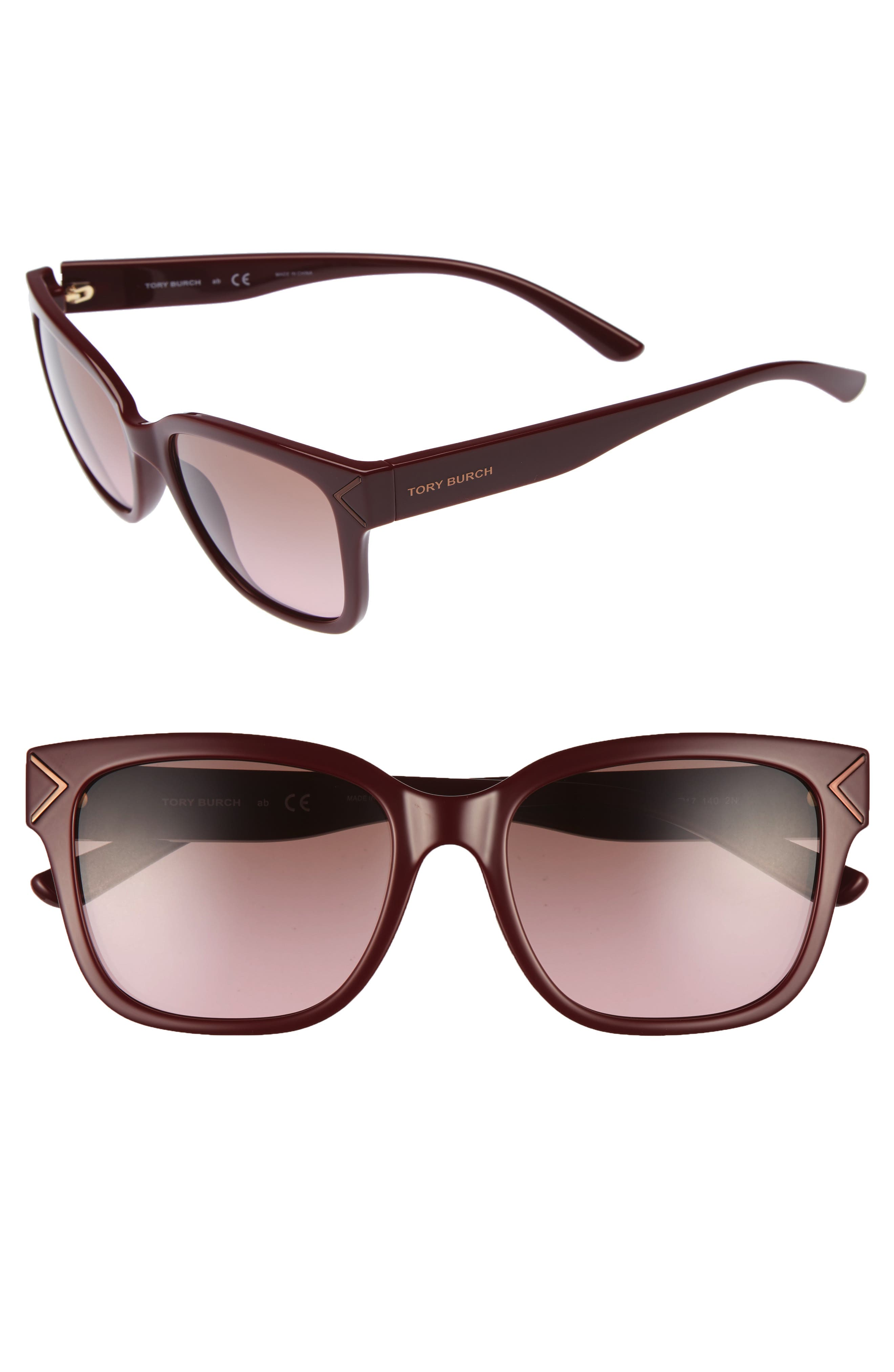 Alternate Image 1 Selected - Tory Burch 55mm Gradient Sunglasses