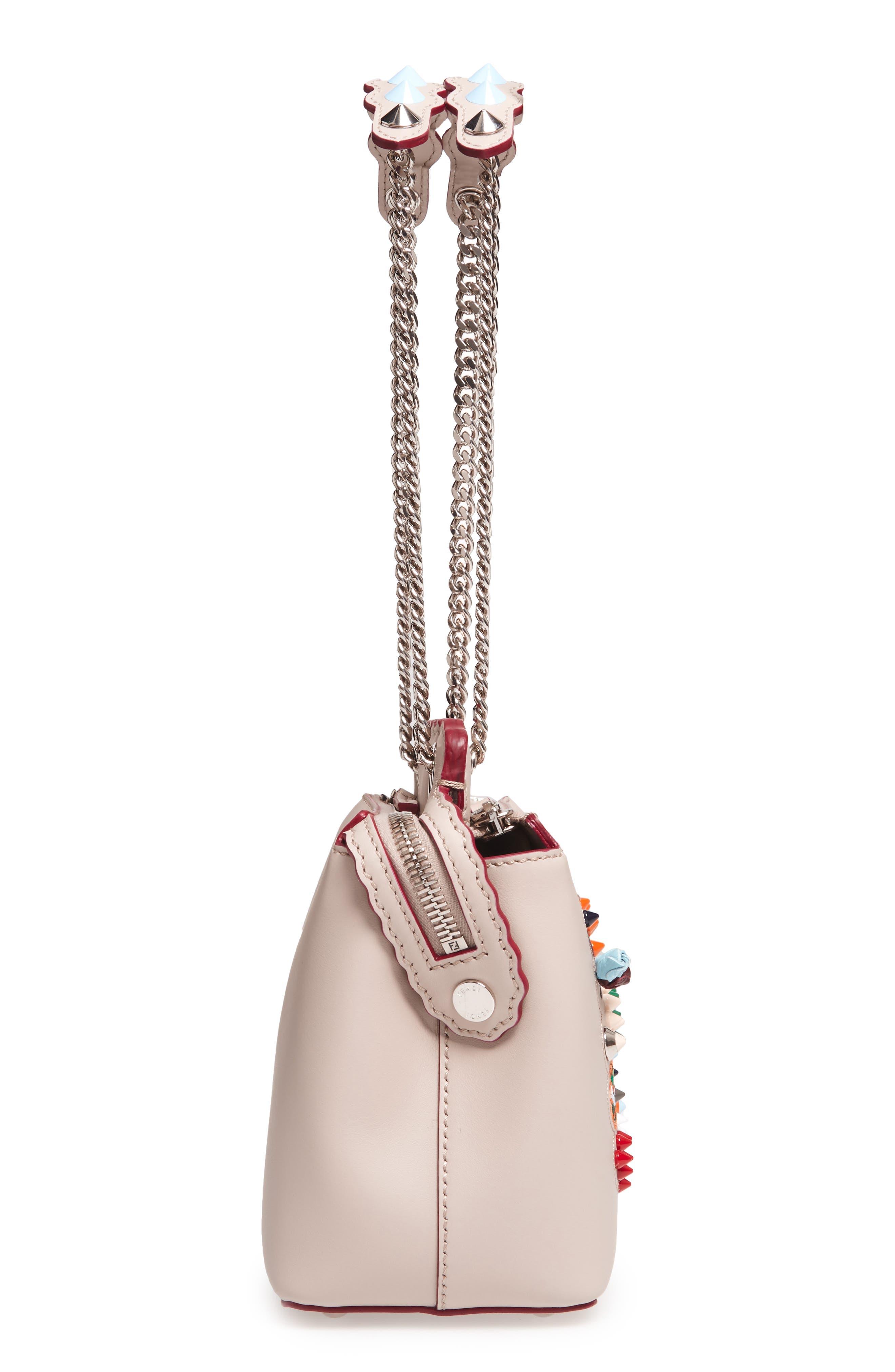 Small Dotcom Leather Shoulder Bag,                             Alternate thumbnail 5, color,                             Black Palladium