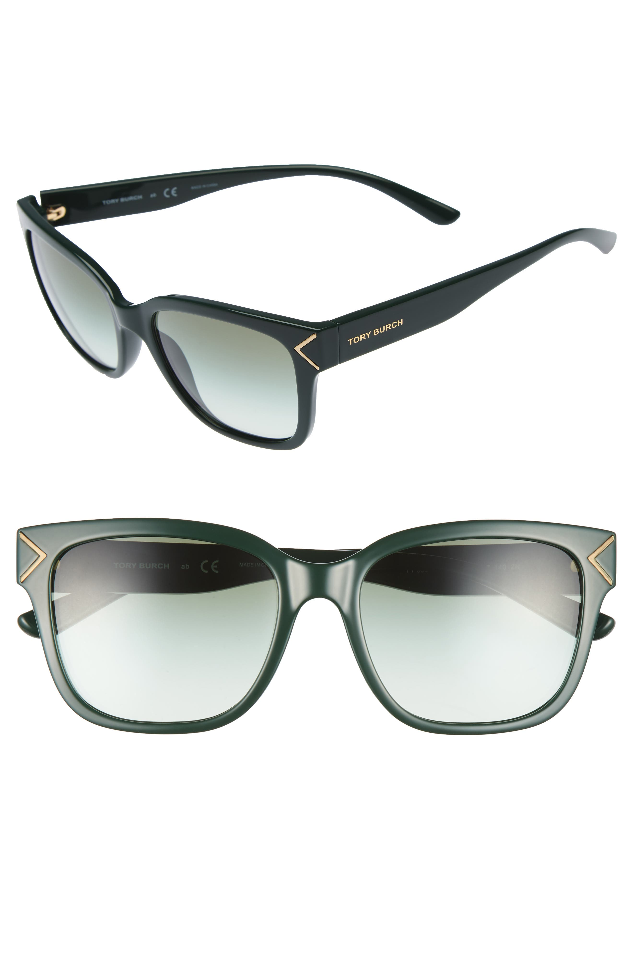 Main Image - Tory Burch 55mm Gradient Sunglasses