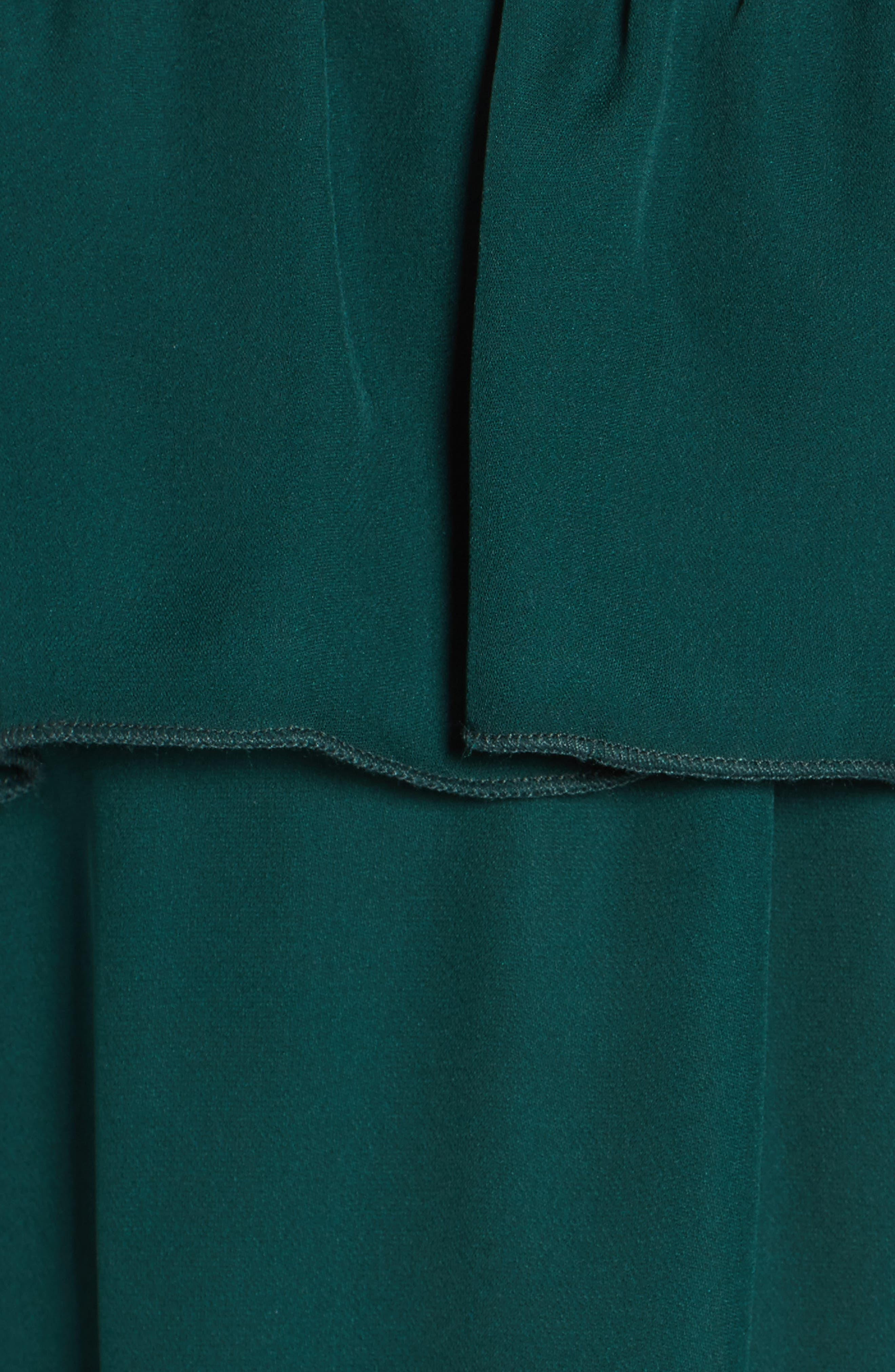 Kennedy Off the Shoulder Blouse,                             Alternate thumbnail 5, color,                             Emerald Green