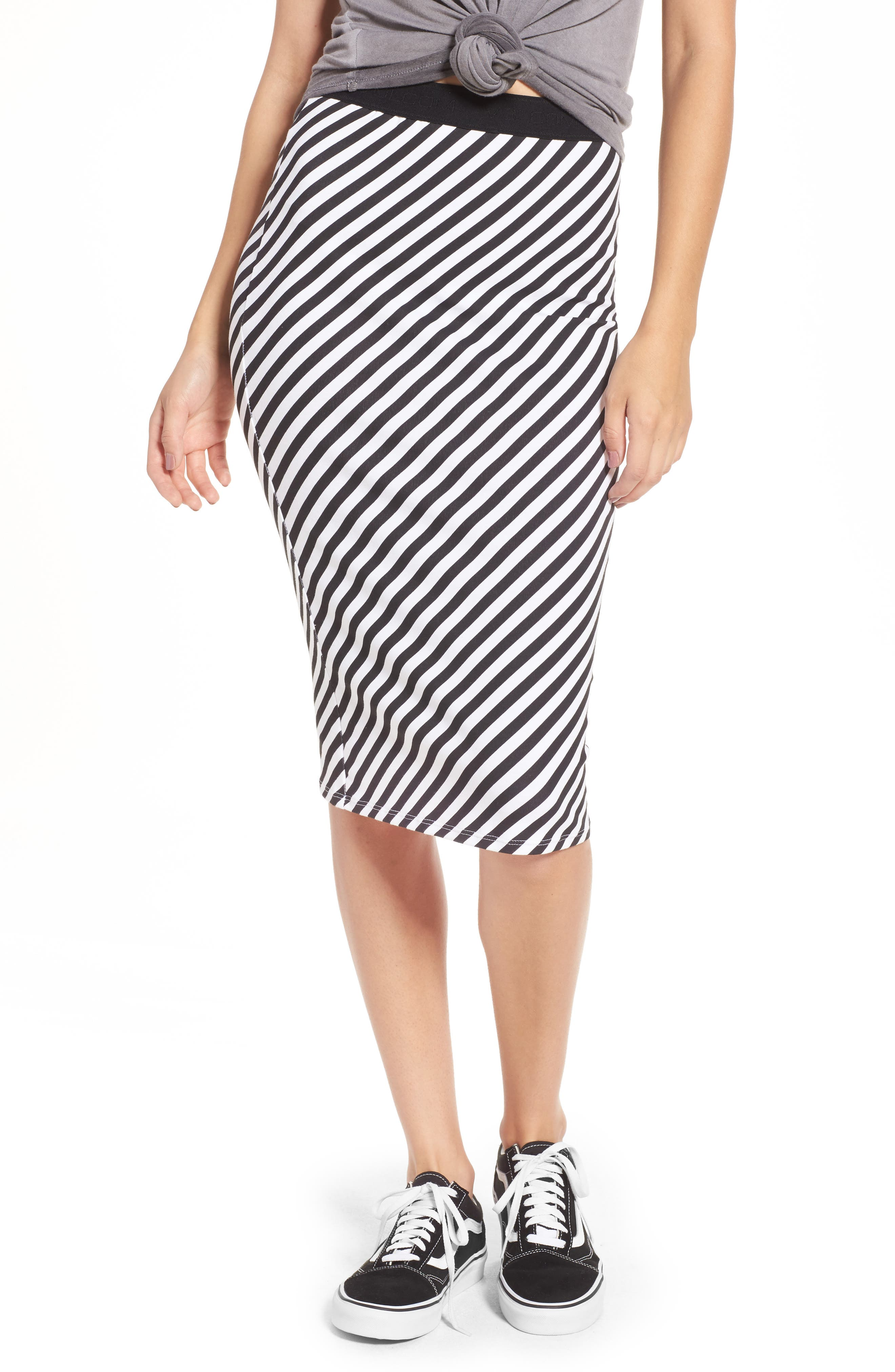Alternate Image 1 Selected - Volcom Futures Past Stripe Skirt