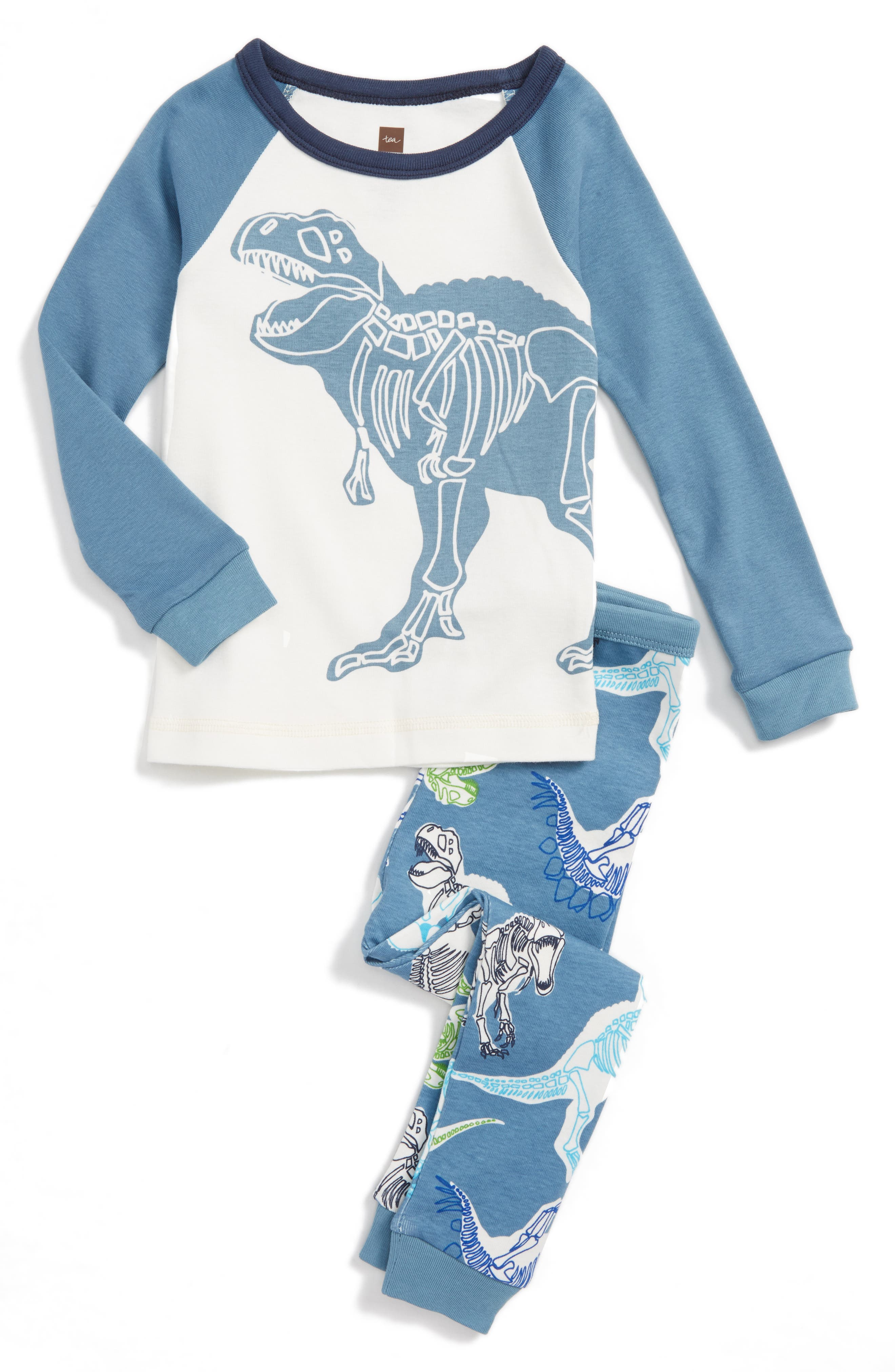Tea Collection Middle Jurassic Two-Piece Fitted Pajamas (Toddler Boys, Little Boys & Big Boys)