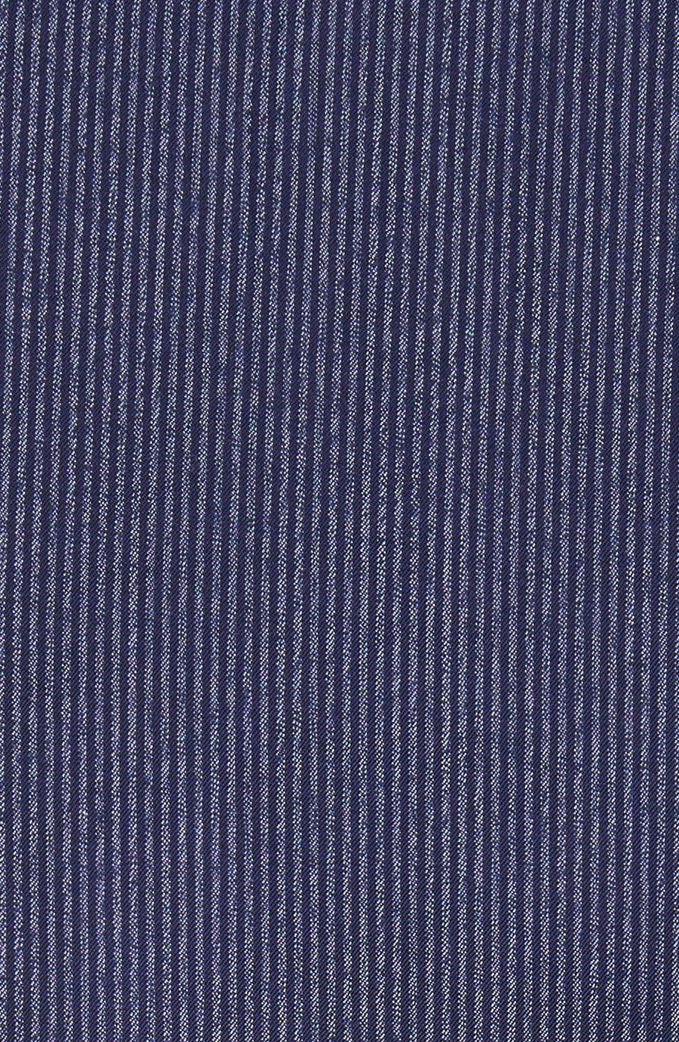 Regular Fit Pinstripe Sport Shirt,                             Alternate thumbnail 5, color,                             Striped Blue