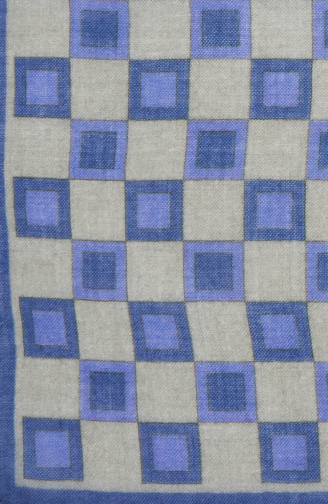 Geometric Pocket Square,                             Alternate thumbnail 3, color,                             Grey