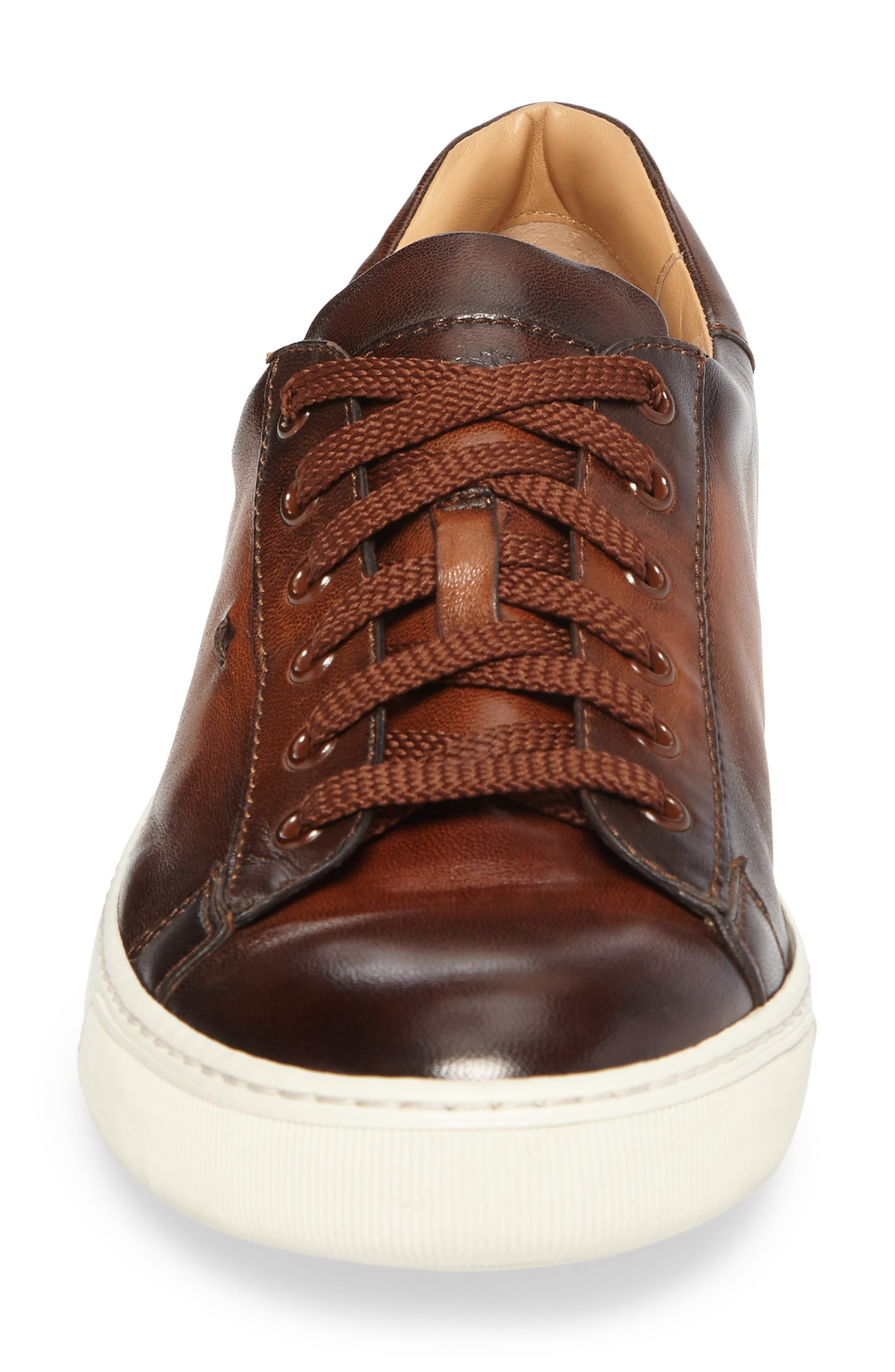 'Apache' Lace-Up Sneaker,                             Alternate thumbnail 4, color,                             Brown