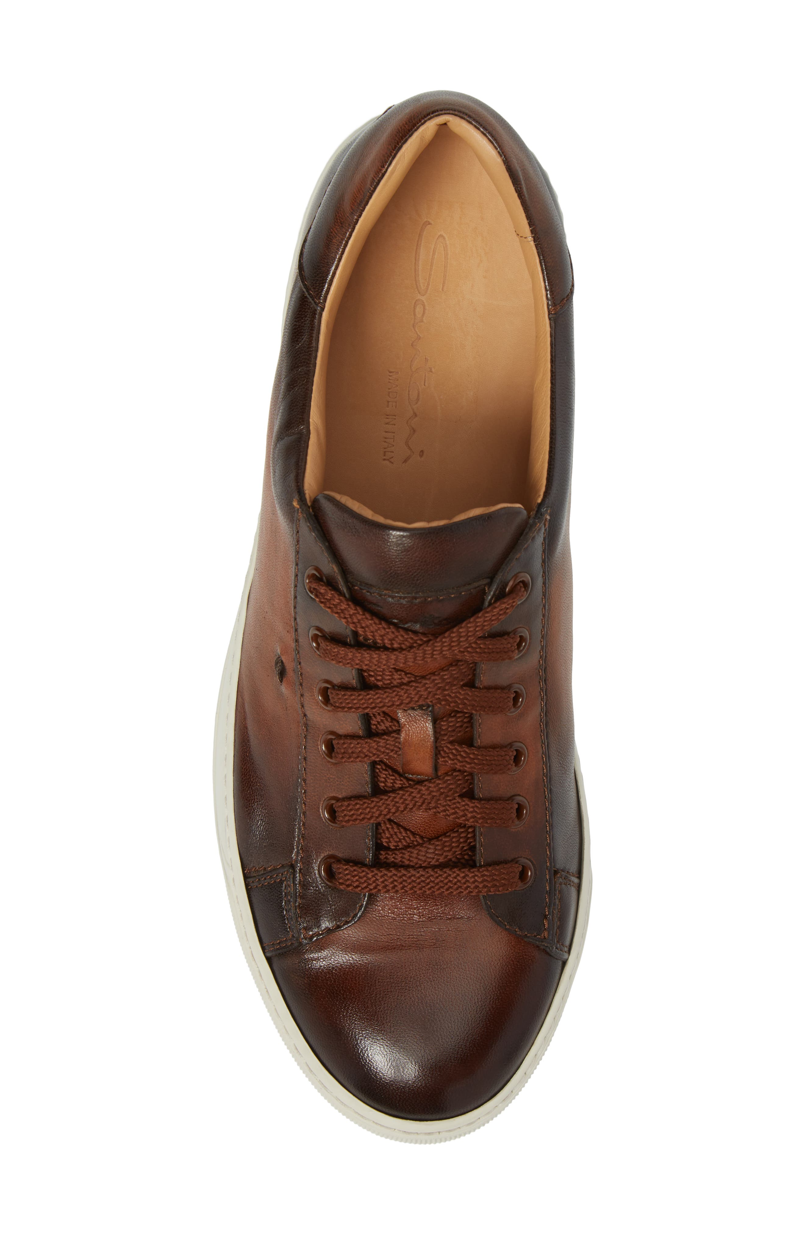 'Apache' Lace-Up Sneaker,                             Alternate thumbnail 5, color,                             Brown