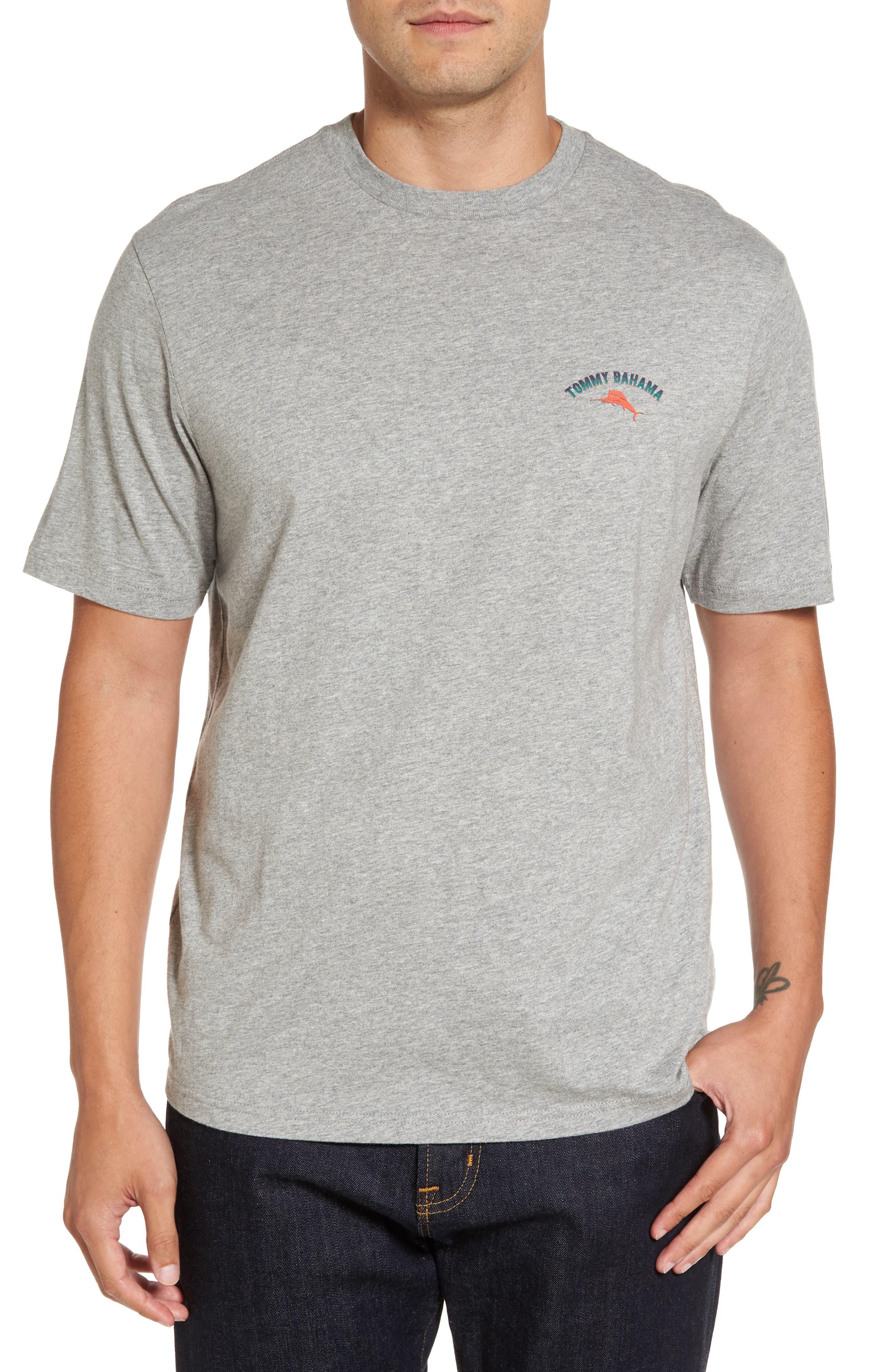 Outside Limebacker Standard Fit T-Shirt,                         Main,                         color, Grey Heather