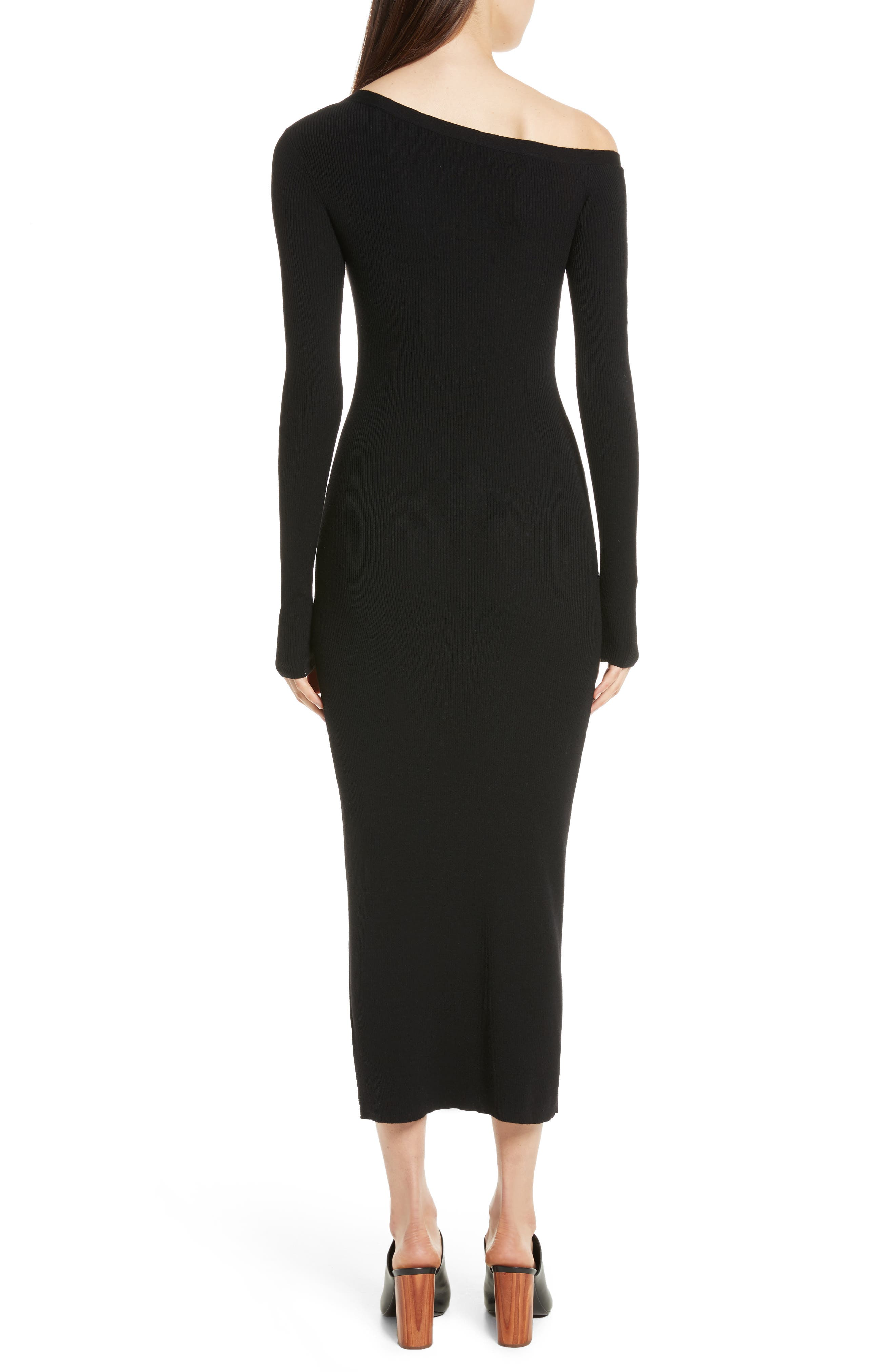 Alternate Image 2  - A.L.C. Brynn Merino Wool Blend Midi Dress