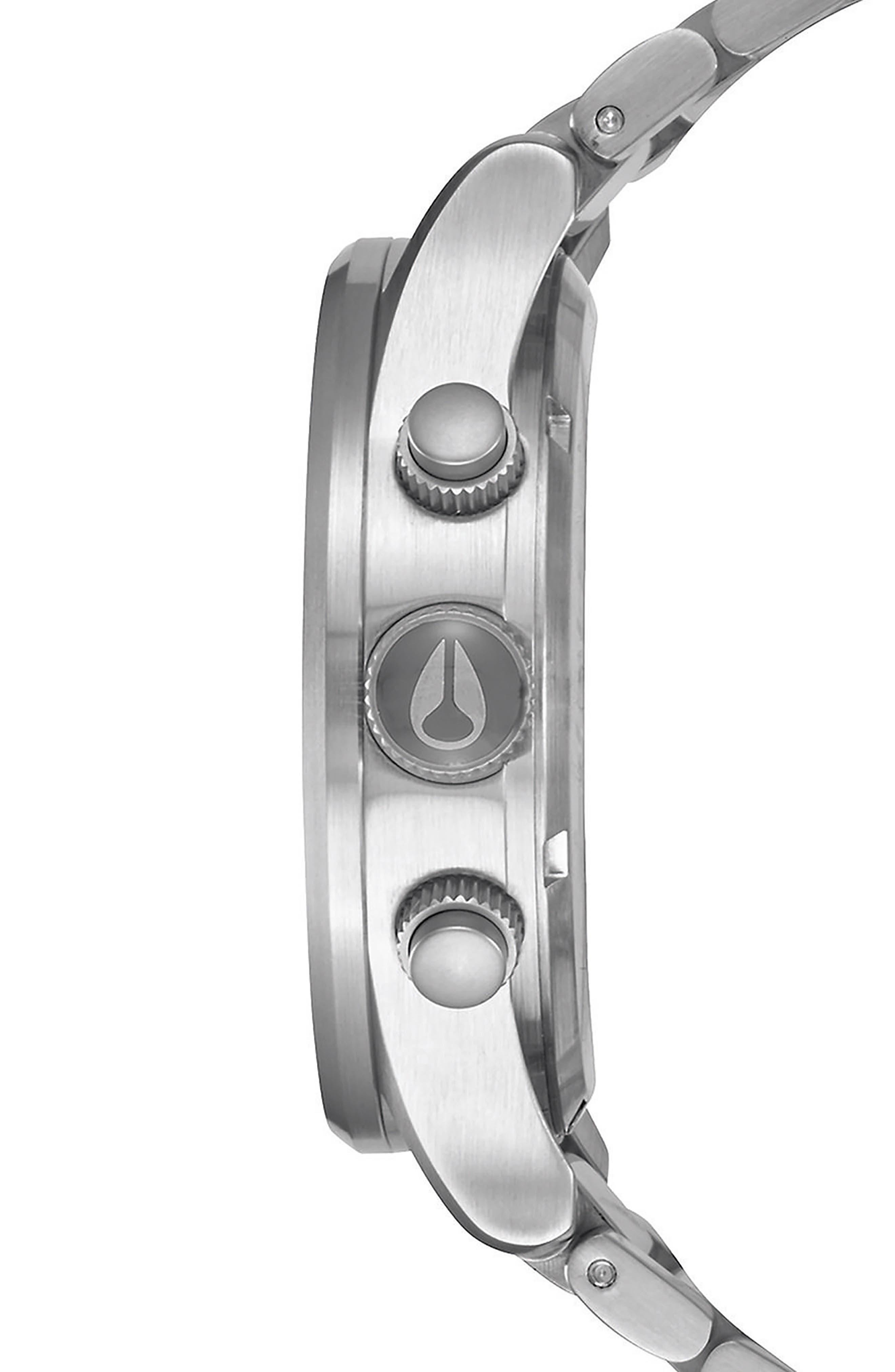 'The Sentry' Chronograph Bracelet Watch, 42mm,                             Alternate thumbnail 3, color,                             Silver/ Black